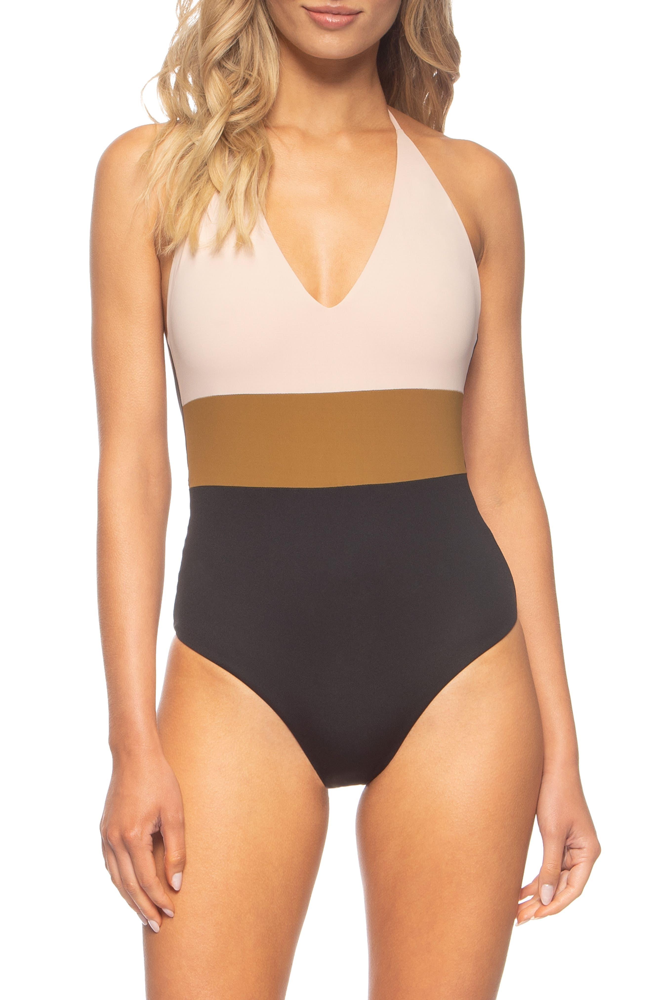Tavik Chase One-Piece Swimsuit, Beige