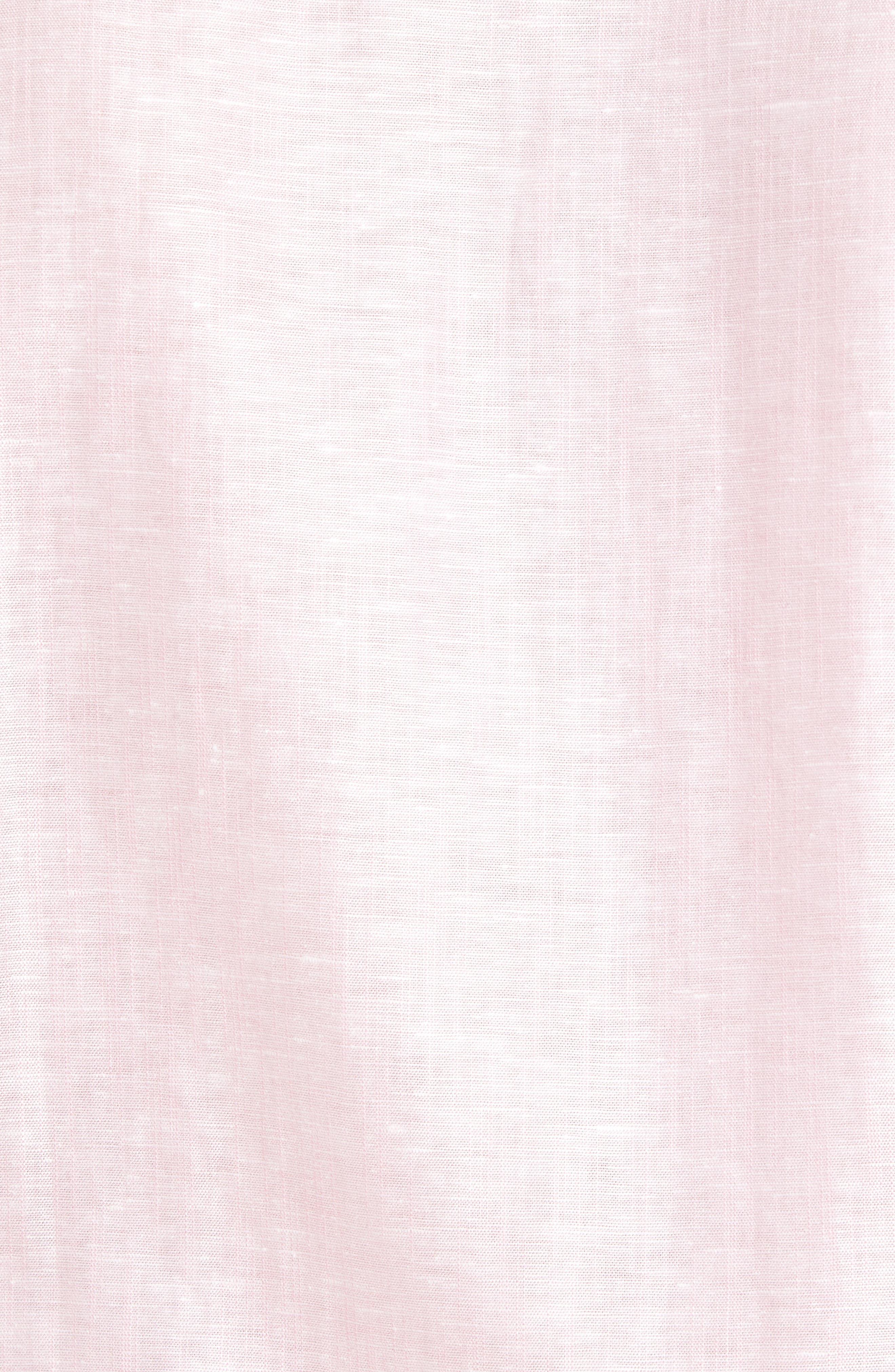 Linlins Herringbone Cotton & Linen Sport Shirt,                             Alternate thumbnail 25, color,
