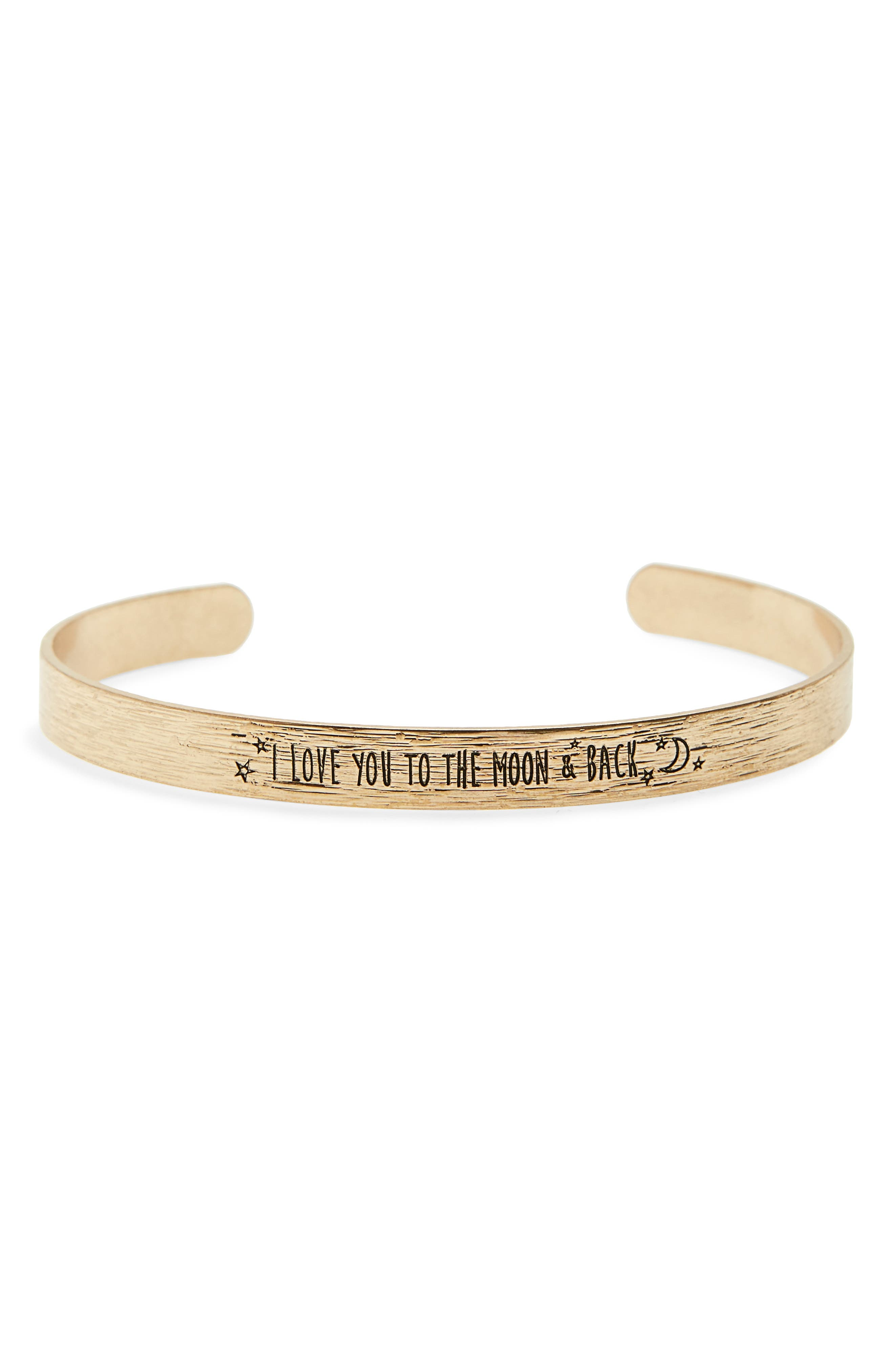 BP.,                             Love You to the Moon & Back Cuff,                             Main thumbnail 1, color,                             710