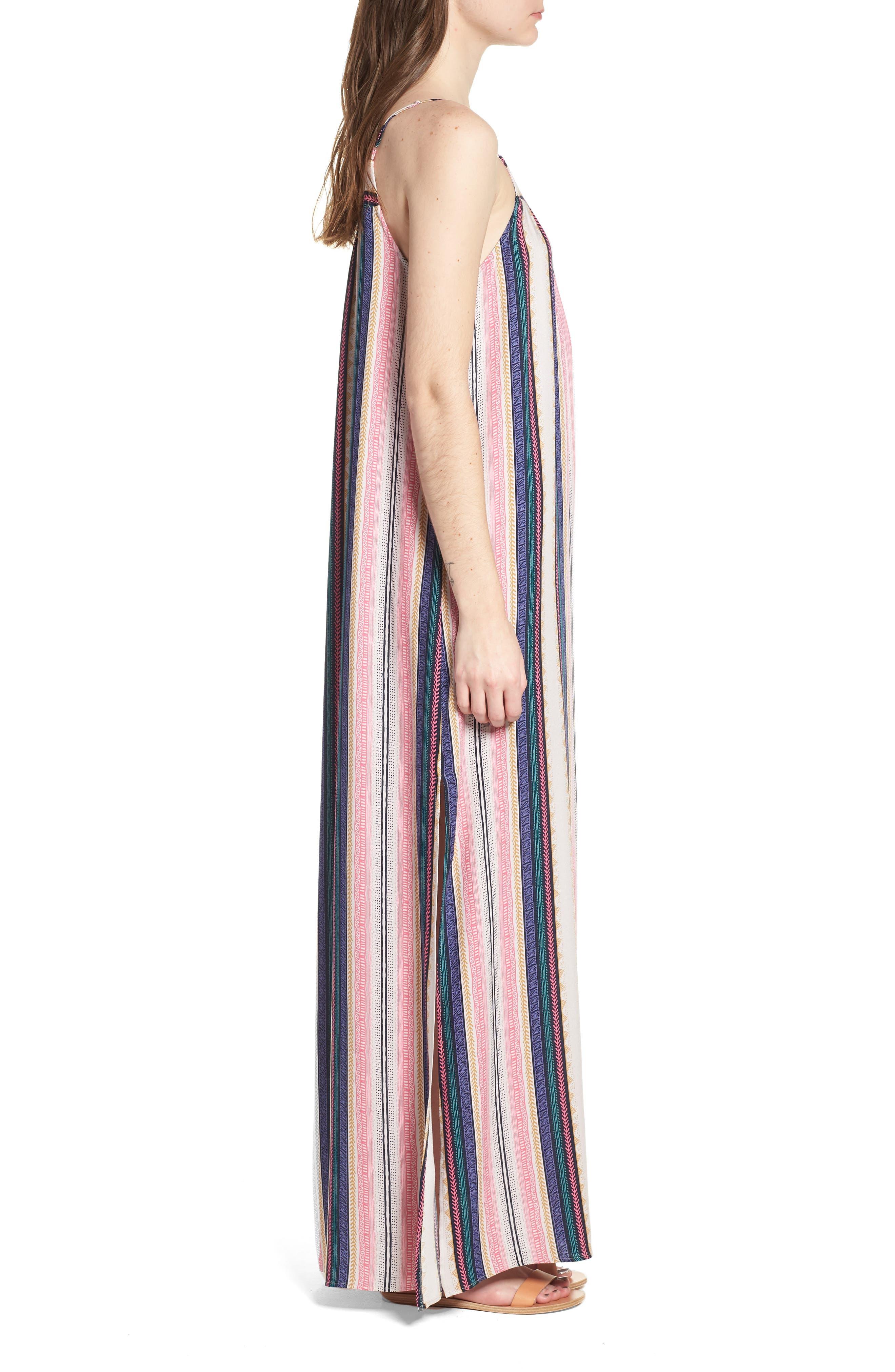 ONE CLOTHING,                             Stripe Maxi Dress,                             Alternate thumbnail 3, color,                             650
