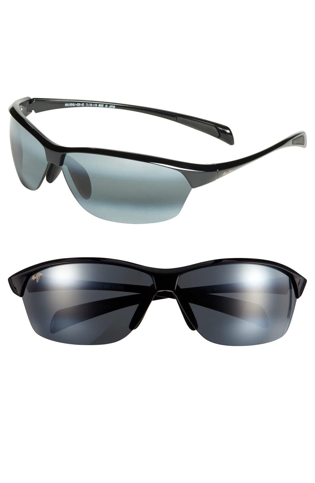 'Hot Sands - PolarizedPlus<sup>®</sup>2' 71mm Sunglasses,                         Main,                         color, BLACK