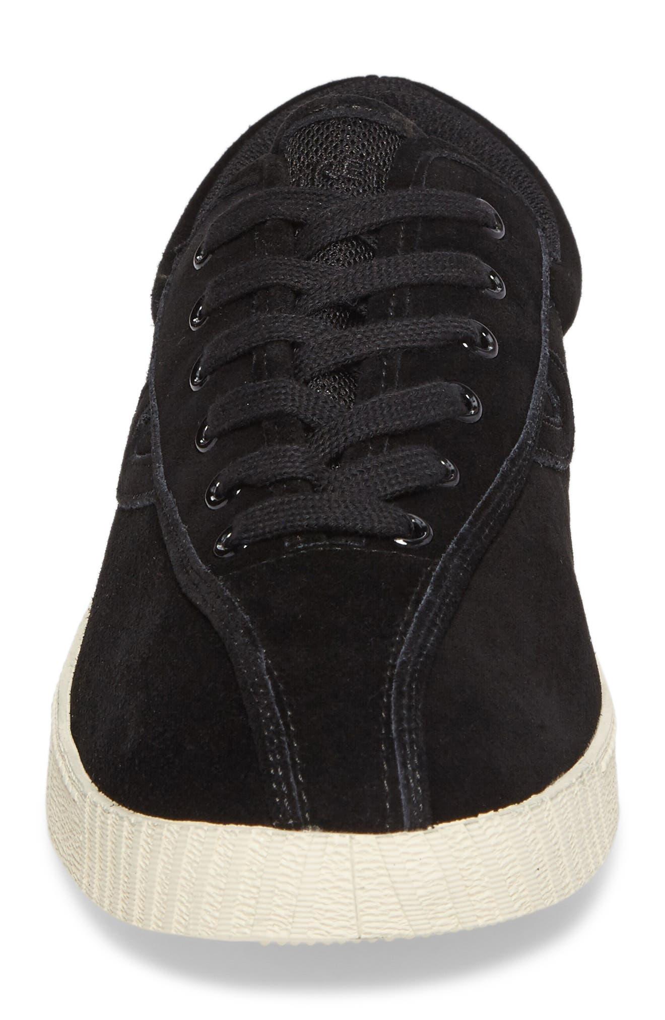 Nylite 16 Sneaker,                             Alternate thumbnail 4, color,                             BLACK/ BLACK SUEDE