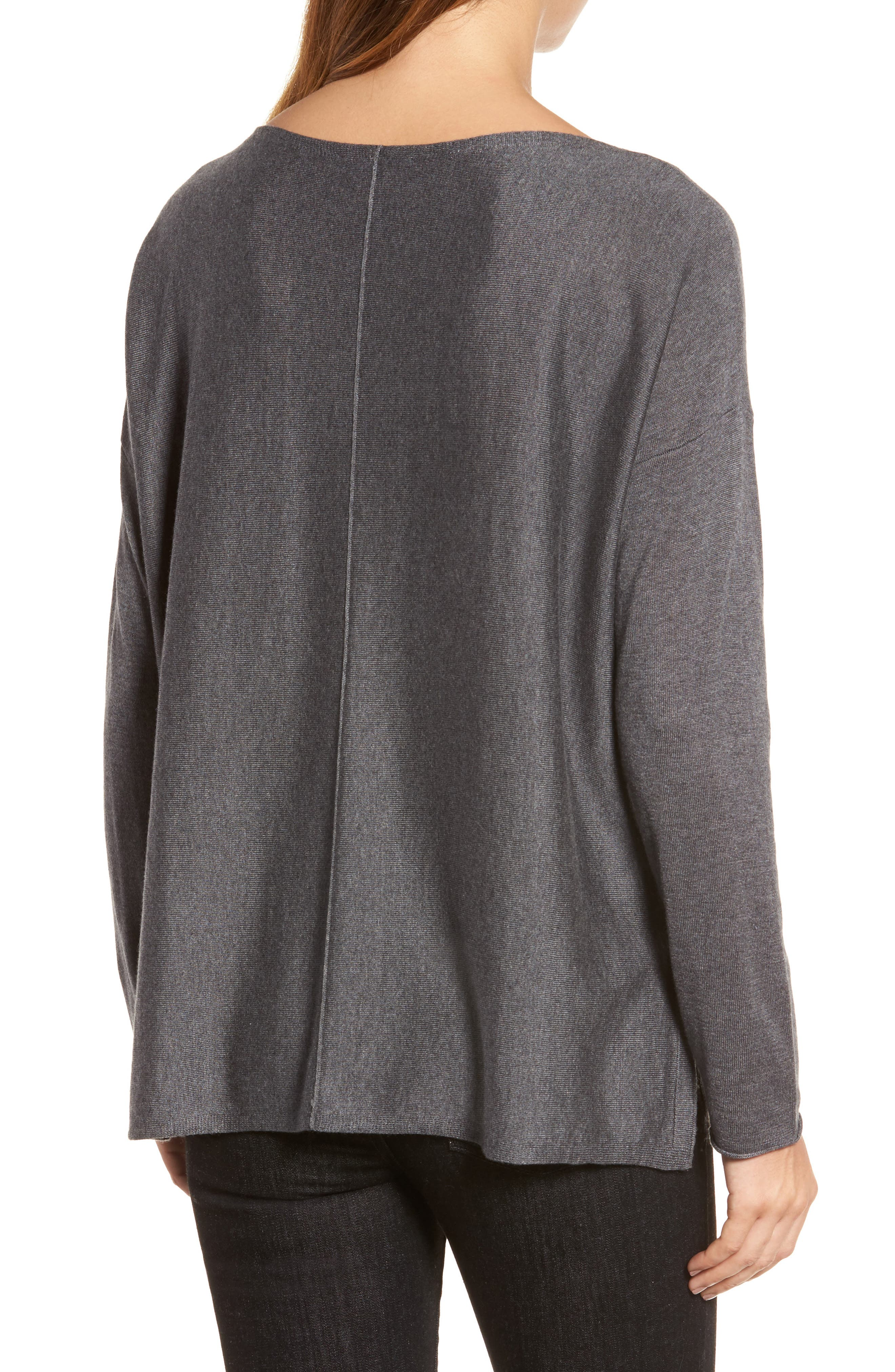 Tencel<sup>®</sup> Lyocell Blend High/Low Sweater,                             Alternate thumbnail 8, color,