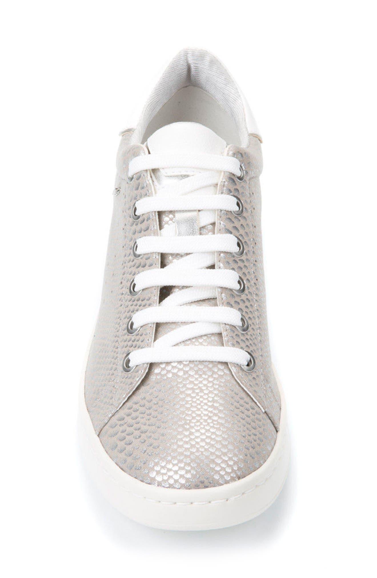 Jaysen Sneaker,                             Alternate thumbnail 4, color,                             SILVER FABRIC
