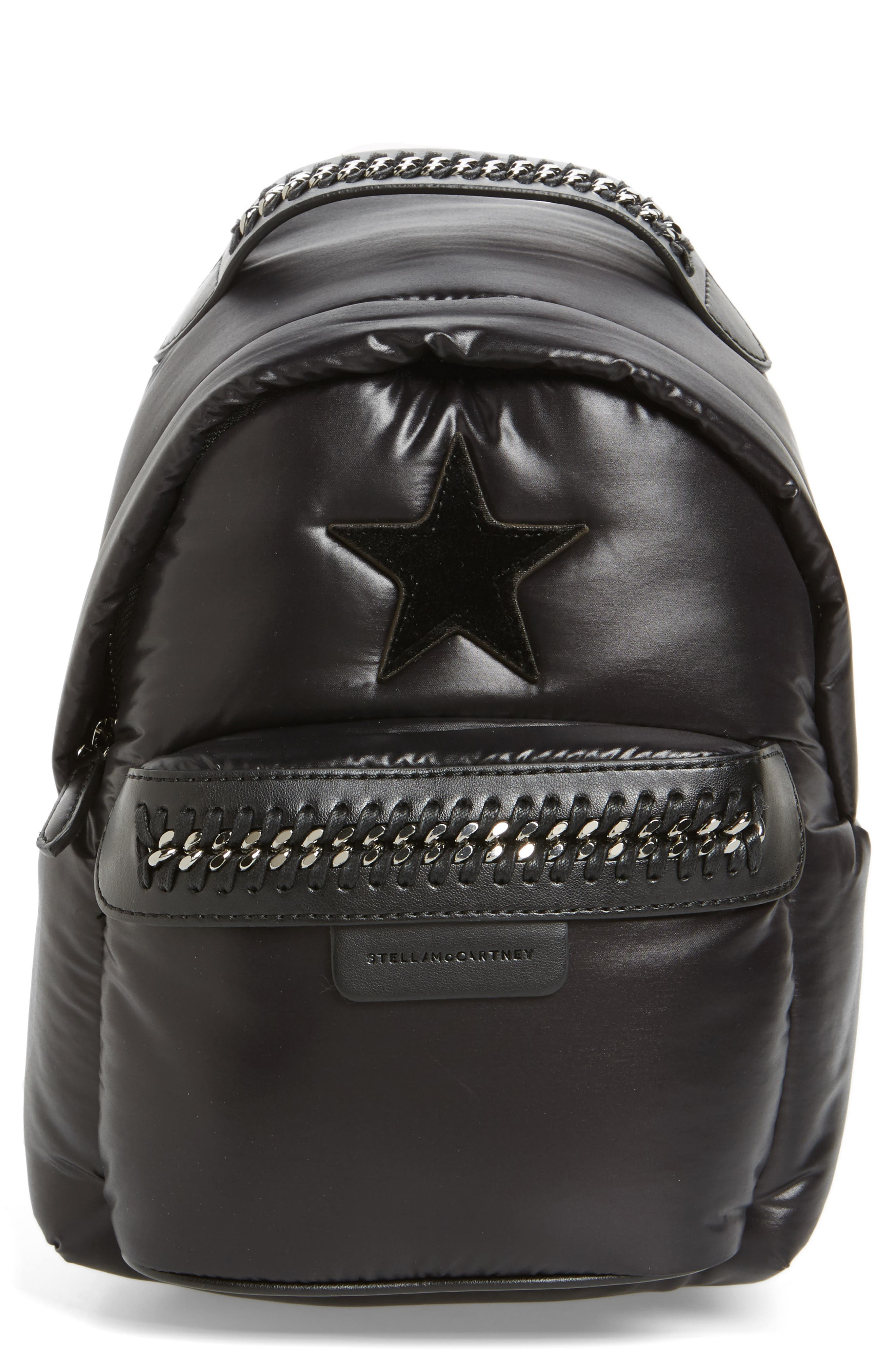 Mini Falabella Go Star Backpack,                             Main thumbnail 1, color,                             001