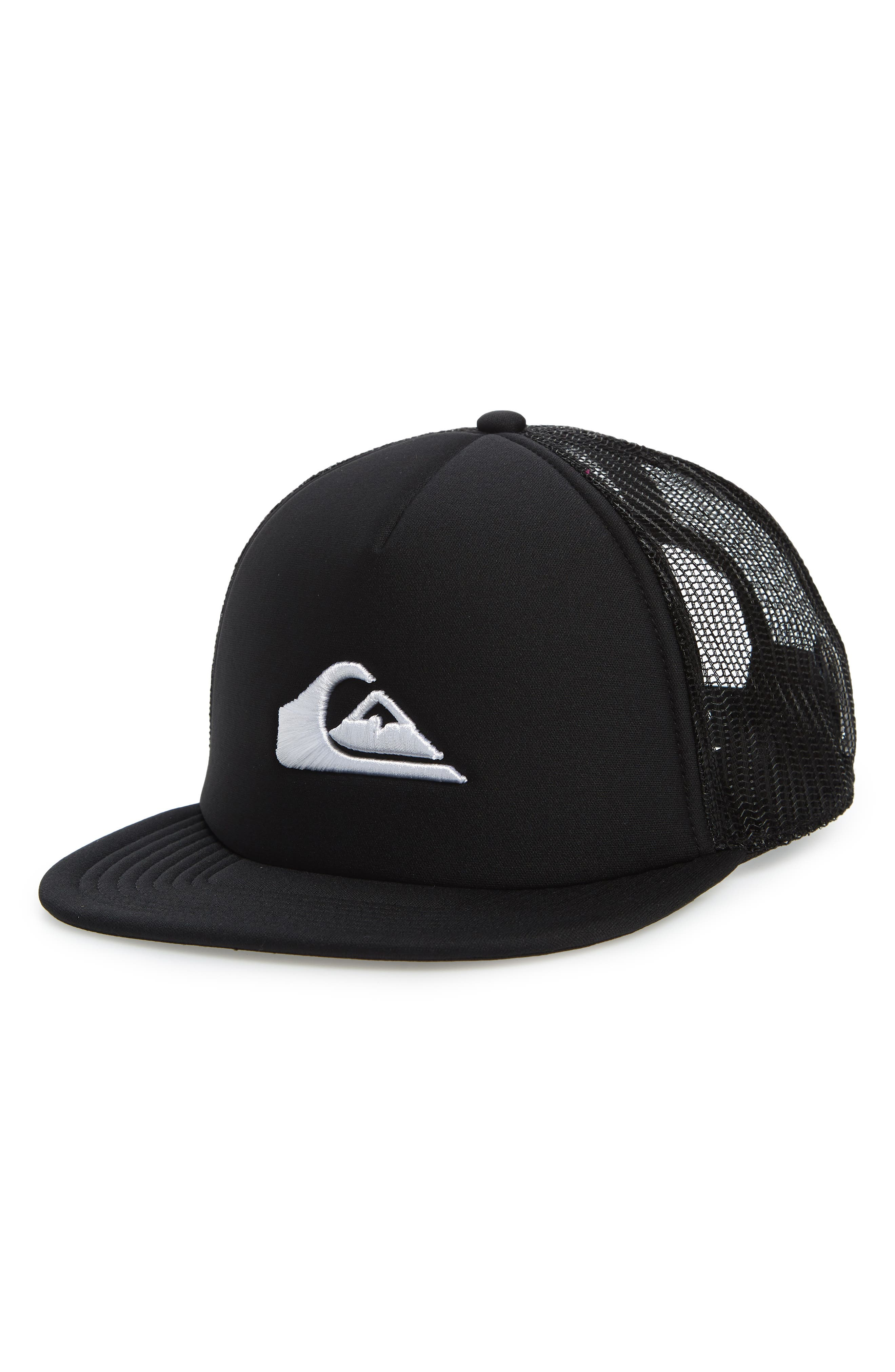 All In Trucker Hat,                         Main,                         color, BLACK