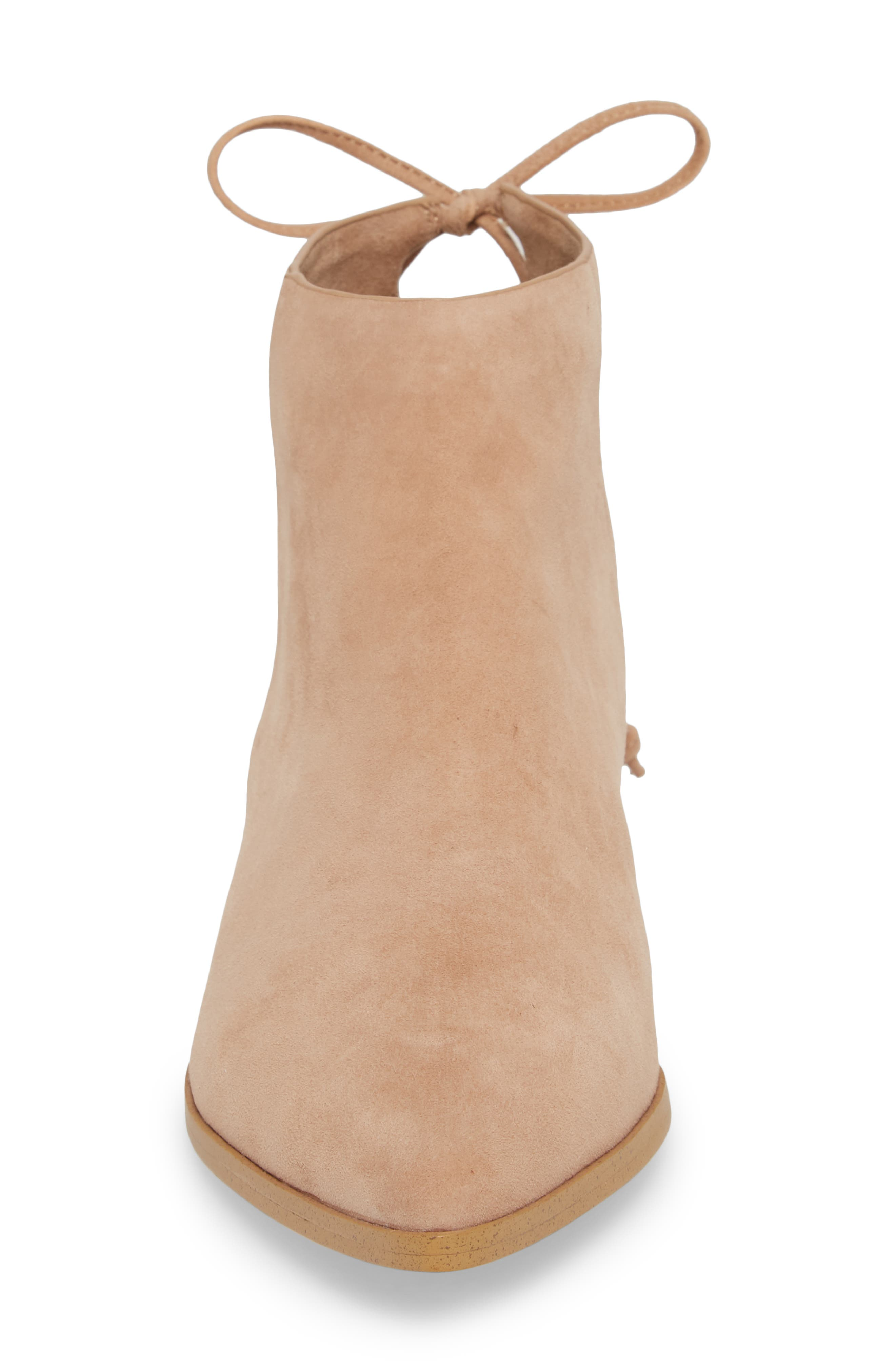Niva Bootie,                             Alternate thumbnail 4, color,                             DRIFTWOOD SUEDE