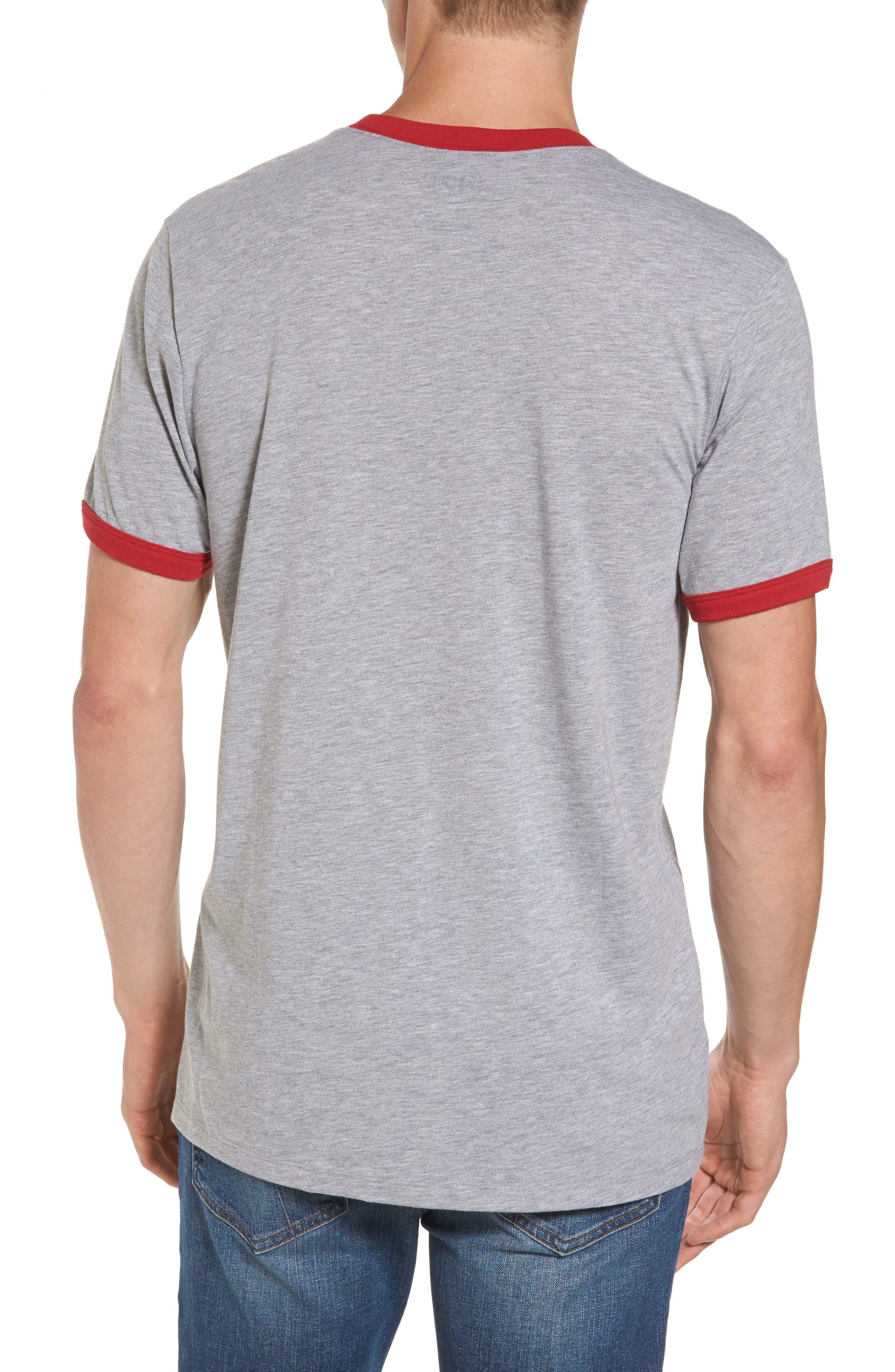 Ohio State Buckeyes Ringer T-Shirt,                             Alternate thumbnail 2, color,                             020