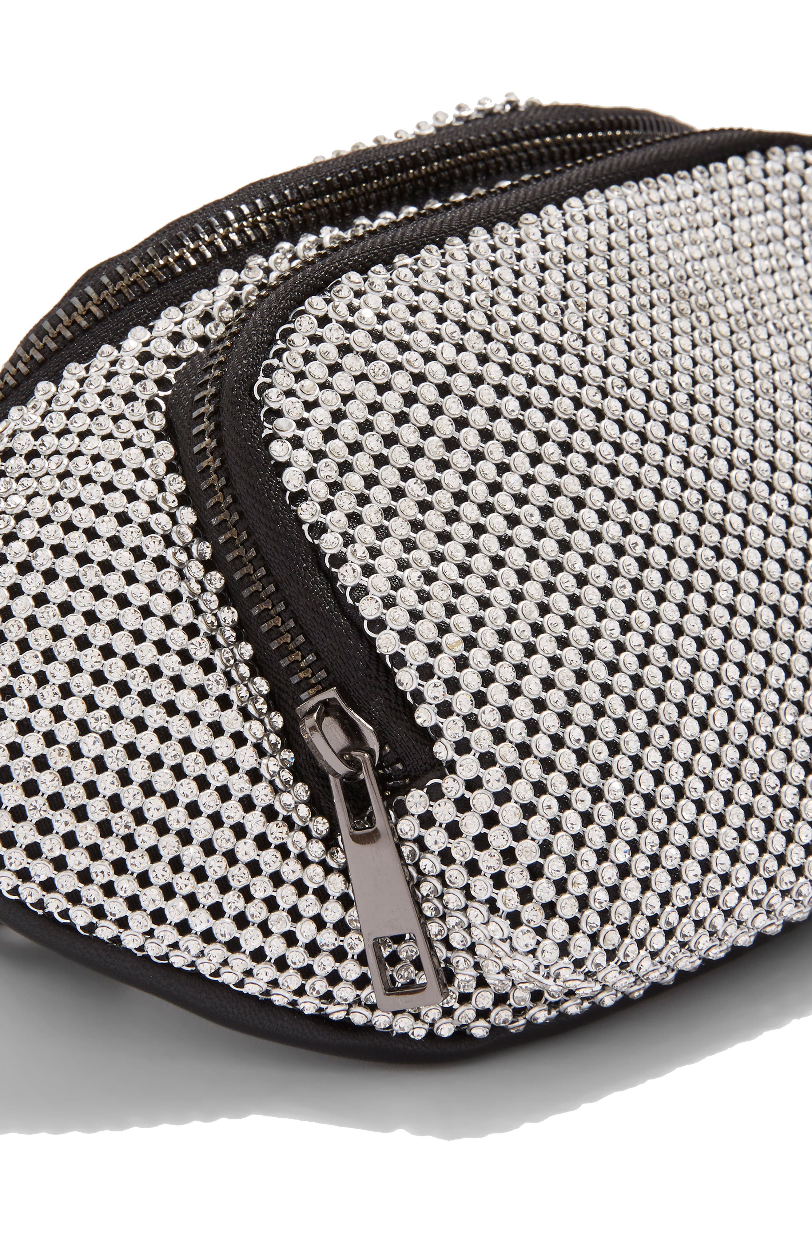 Diana Diamante Chainmail Bum Bag,                             Alternate thumbnail 5, color,