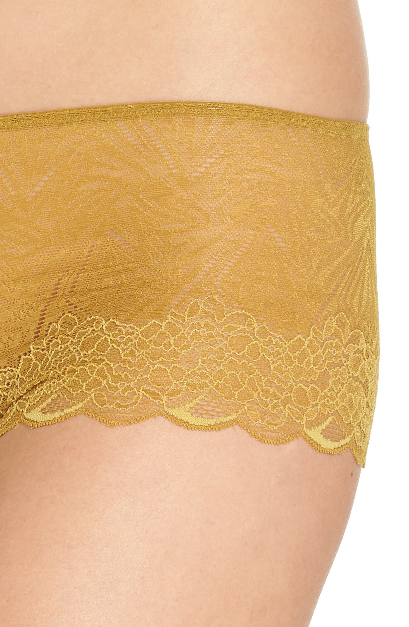 Lace Boyshorts,                             Alternate thumbnail 4, color,                             BRONZED AMBAR