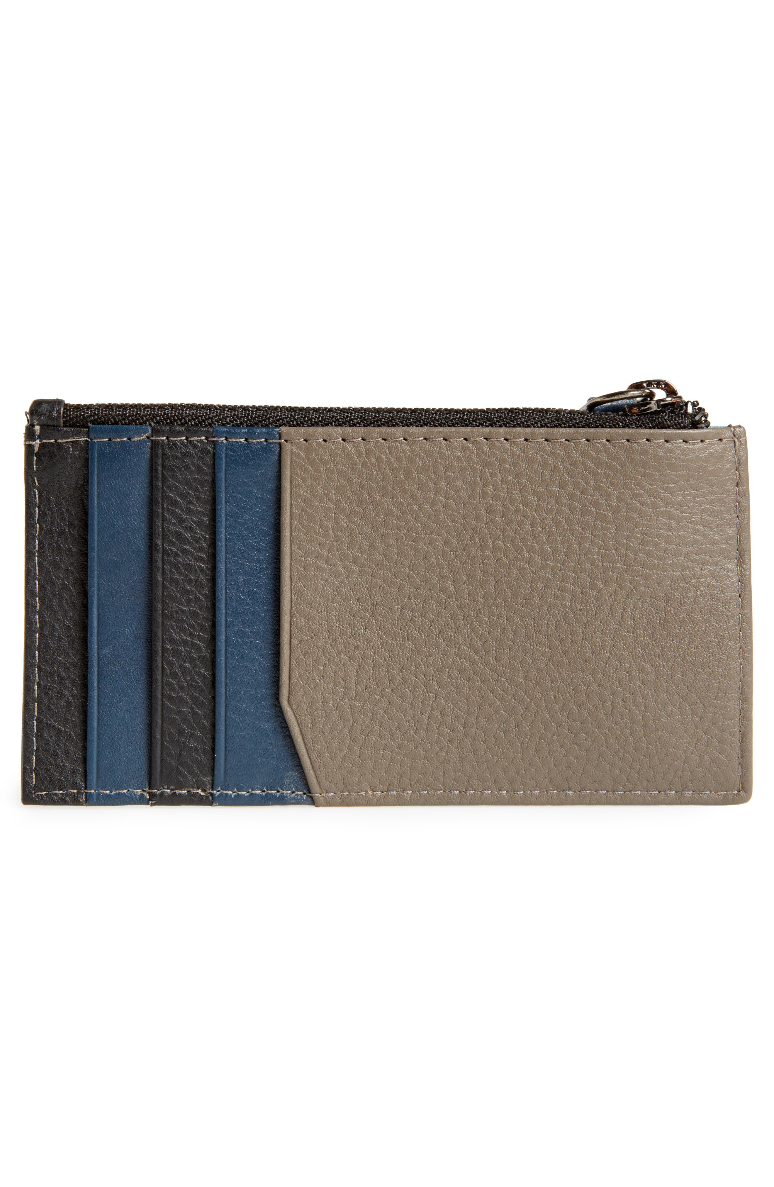 Jammee Leather Coin Pouch,                             Alternate thumbnail 3, color,                             001