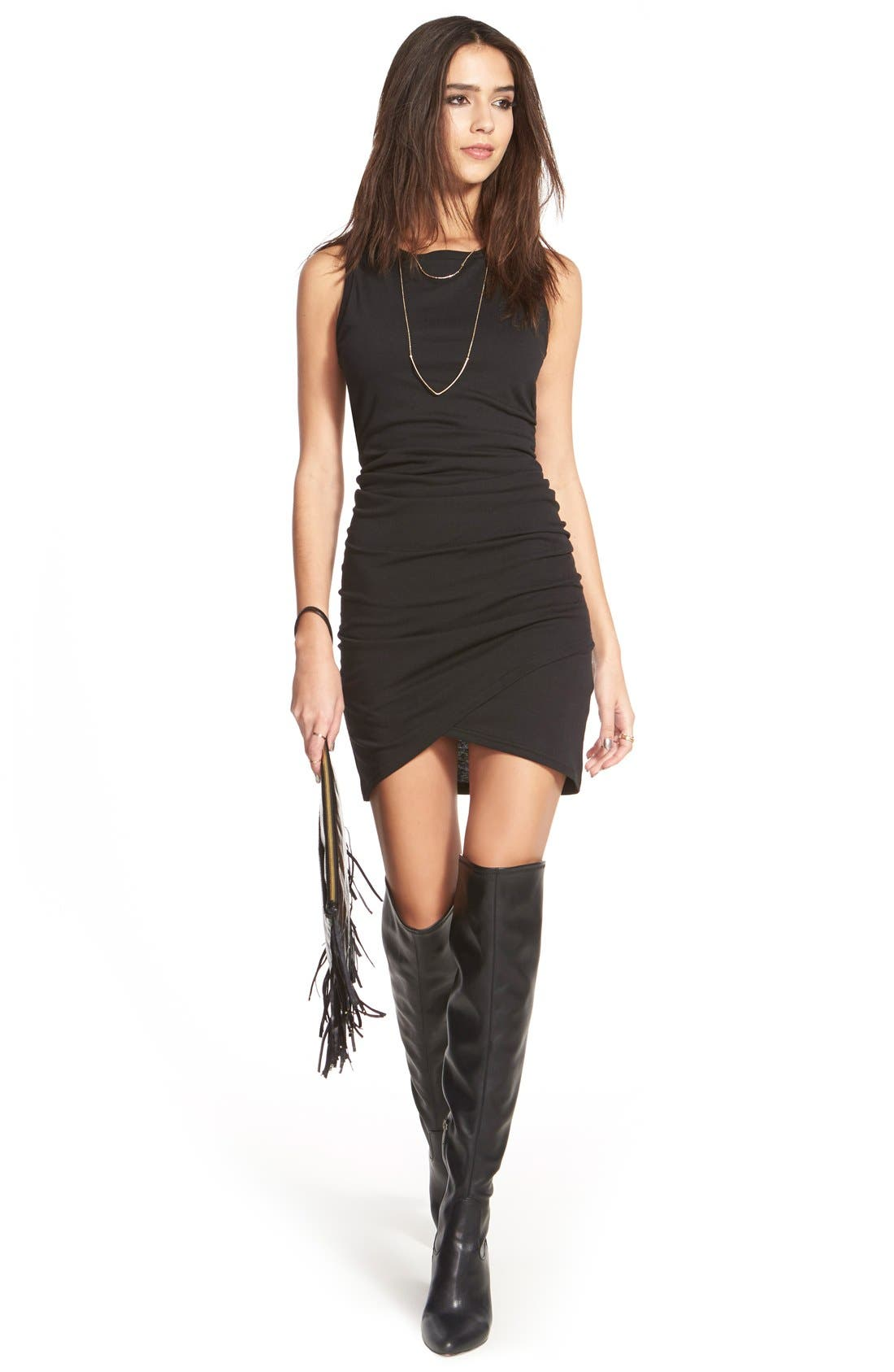 'Brooklyn' Over the Knee Boot,                             Alternate thumbnail 5, color,                             001