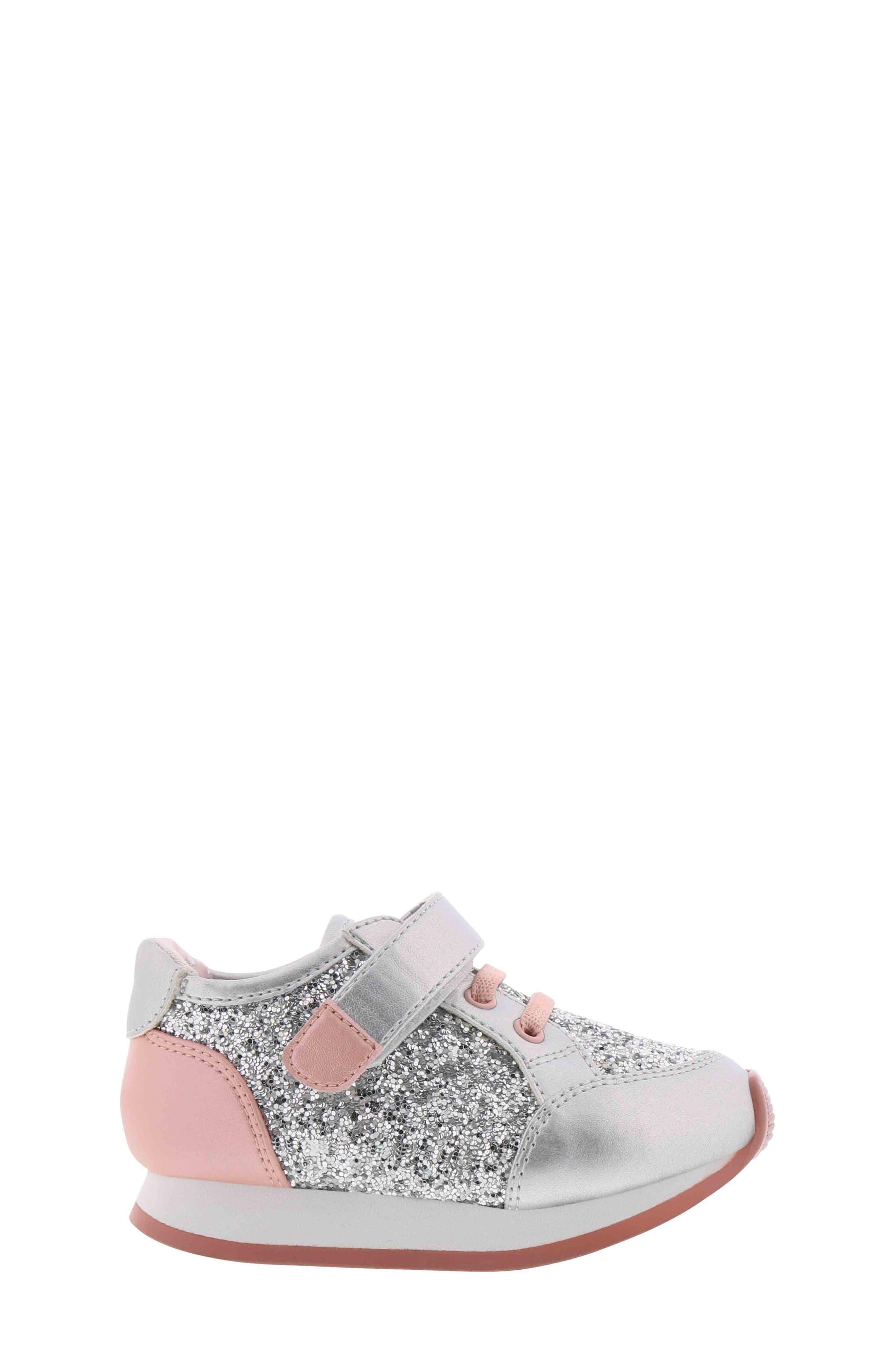BØRN,                             Adyson Margyne Sparkle Sneaker,                             Alternate thumbnail 3, color,                             SILVER PINK