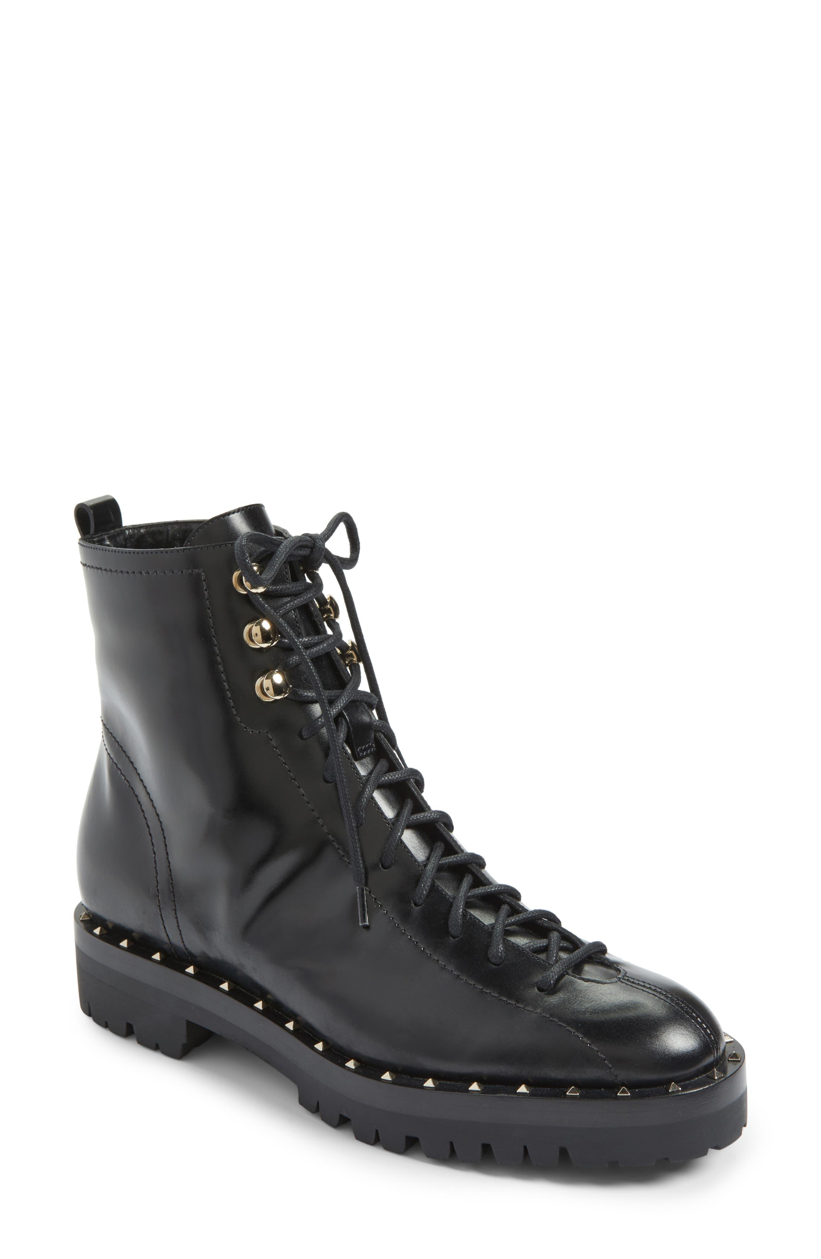 Rockstud Combat Boot,                         Main,                         color, 001
