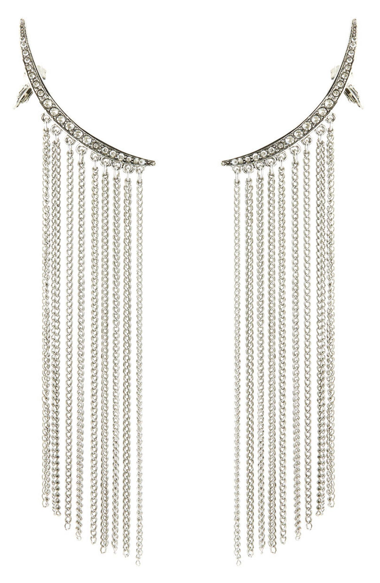 Tendril Drop Clip-On Earrings,                         Main,                         color, 040