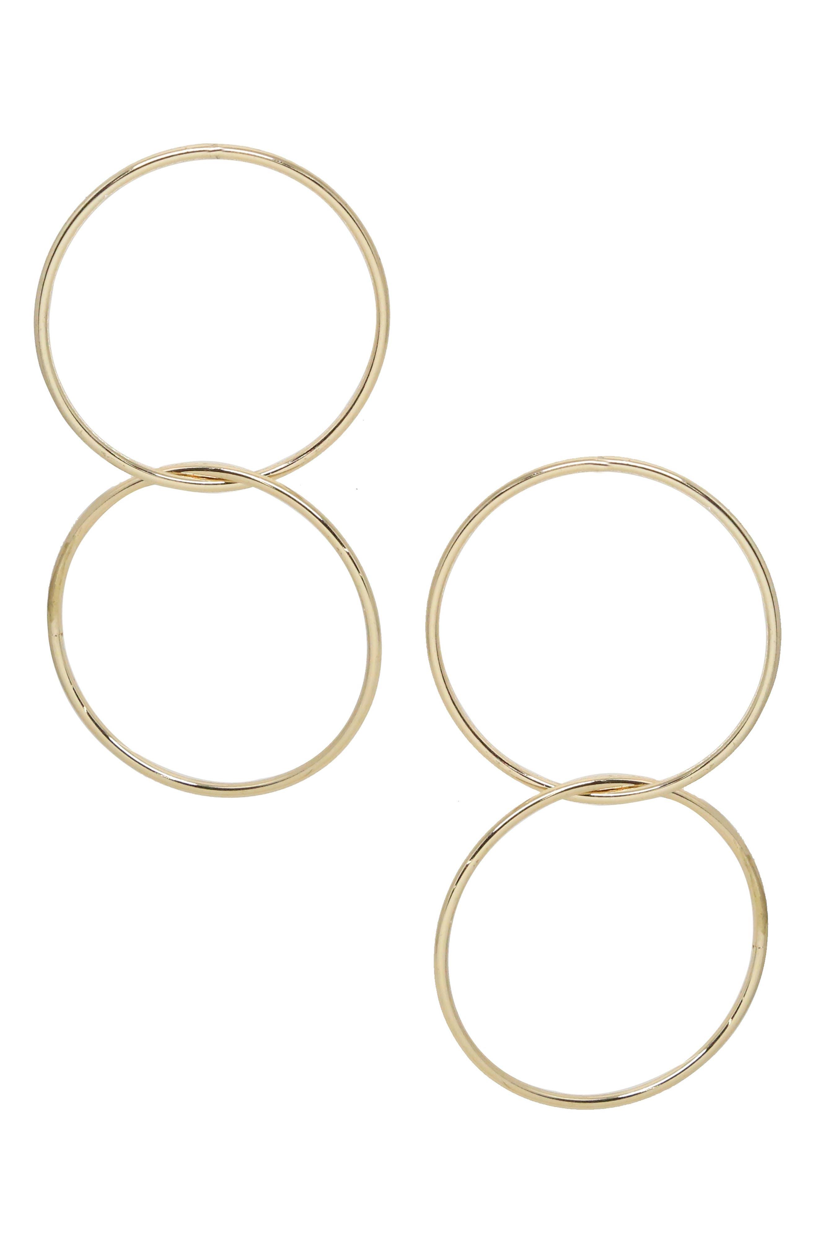 ETTIKA Power Frontal Hoop Earrings in Gold
