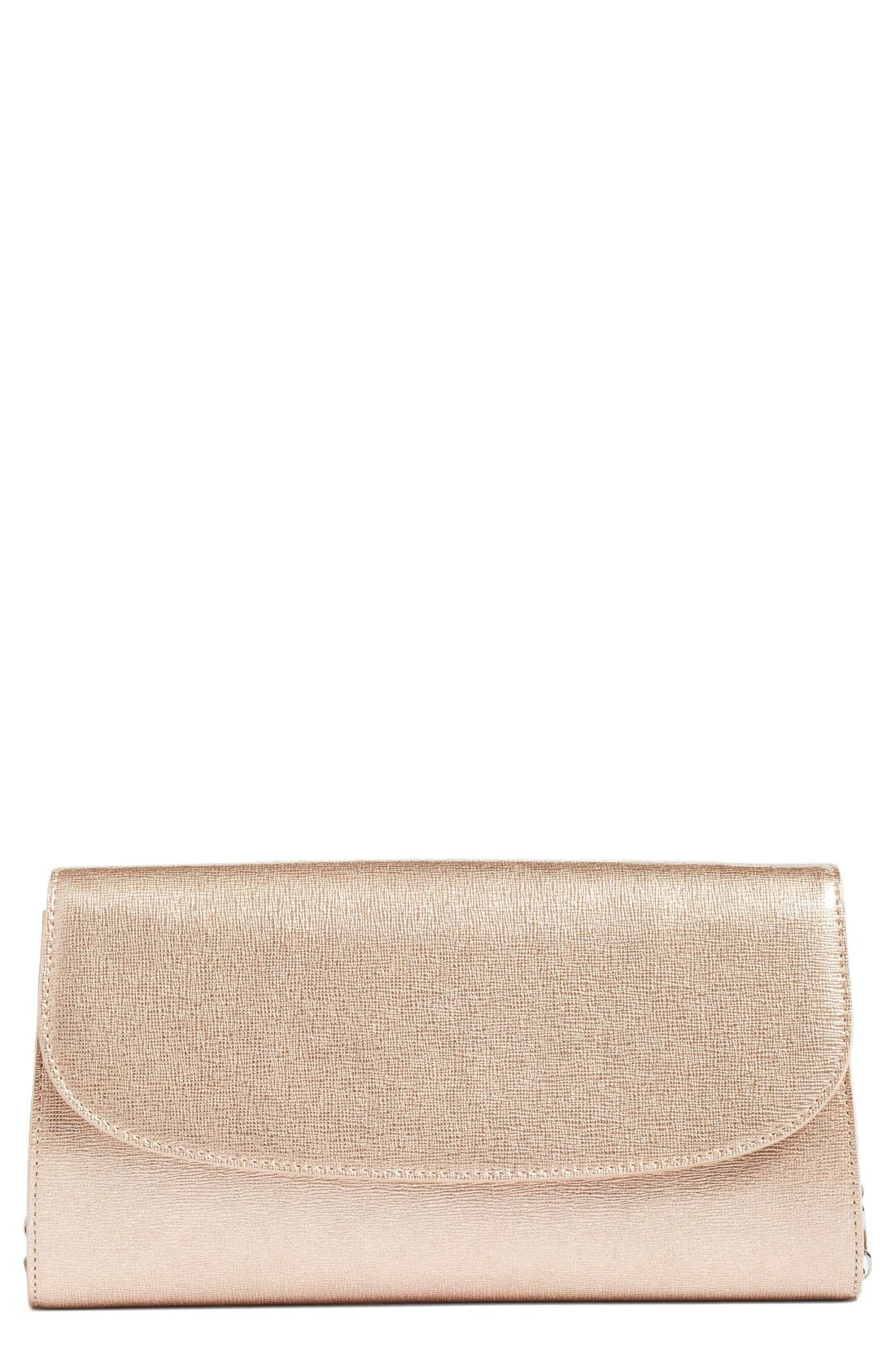 Leather Clutch,                             Main thumbnail 5, color,