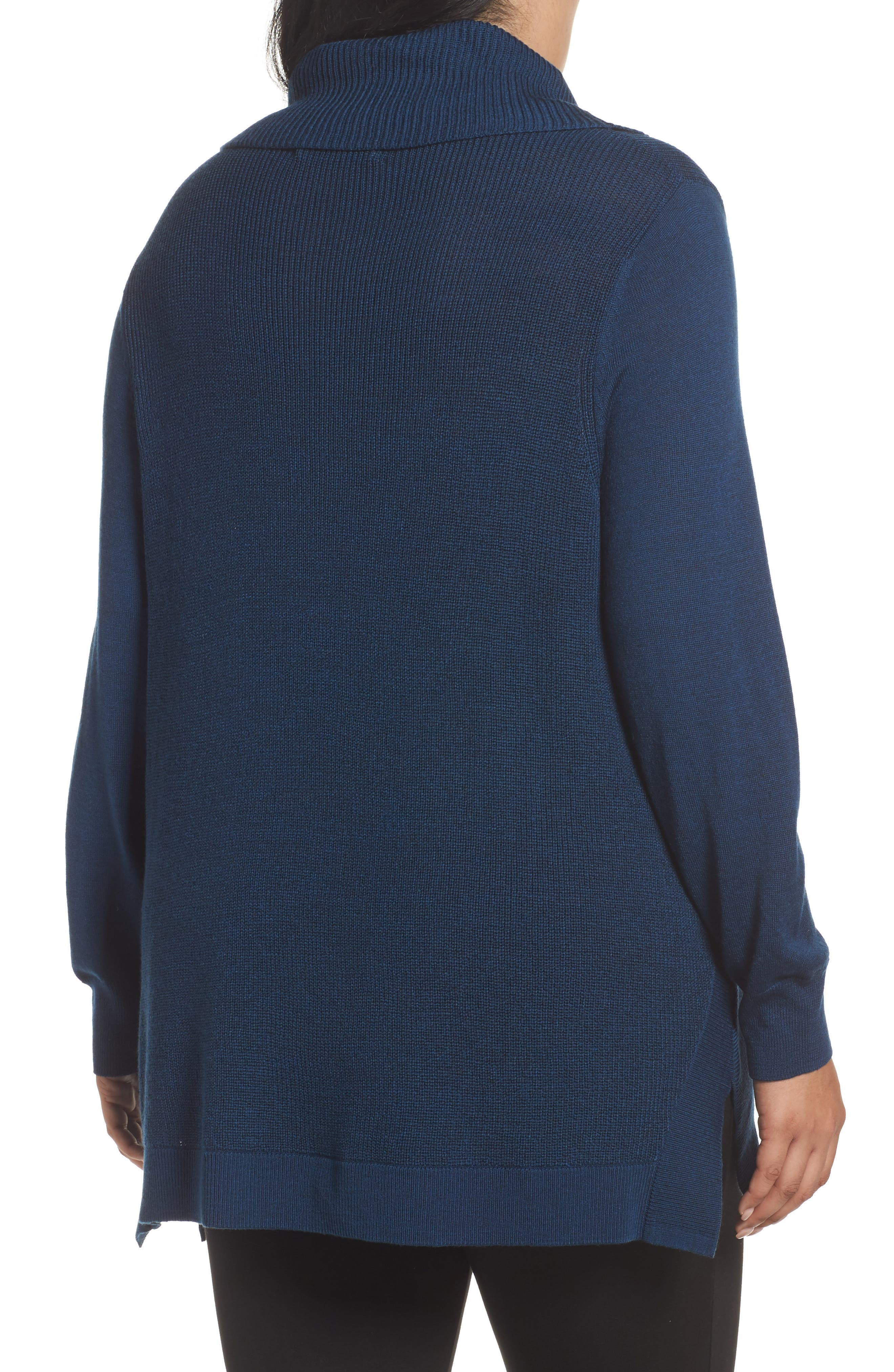 Cowl Neck Ribbed Trim Pullover,                             Alternate thumbnail 11, color,