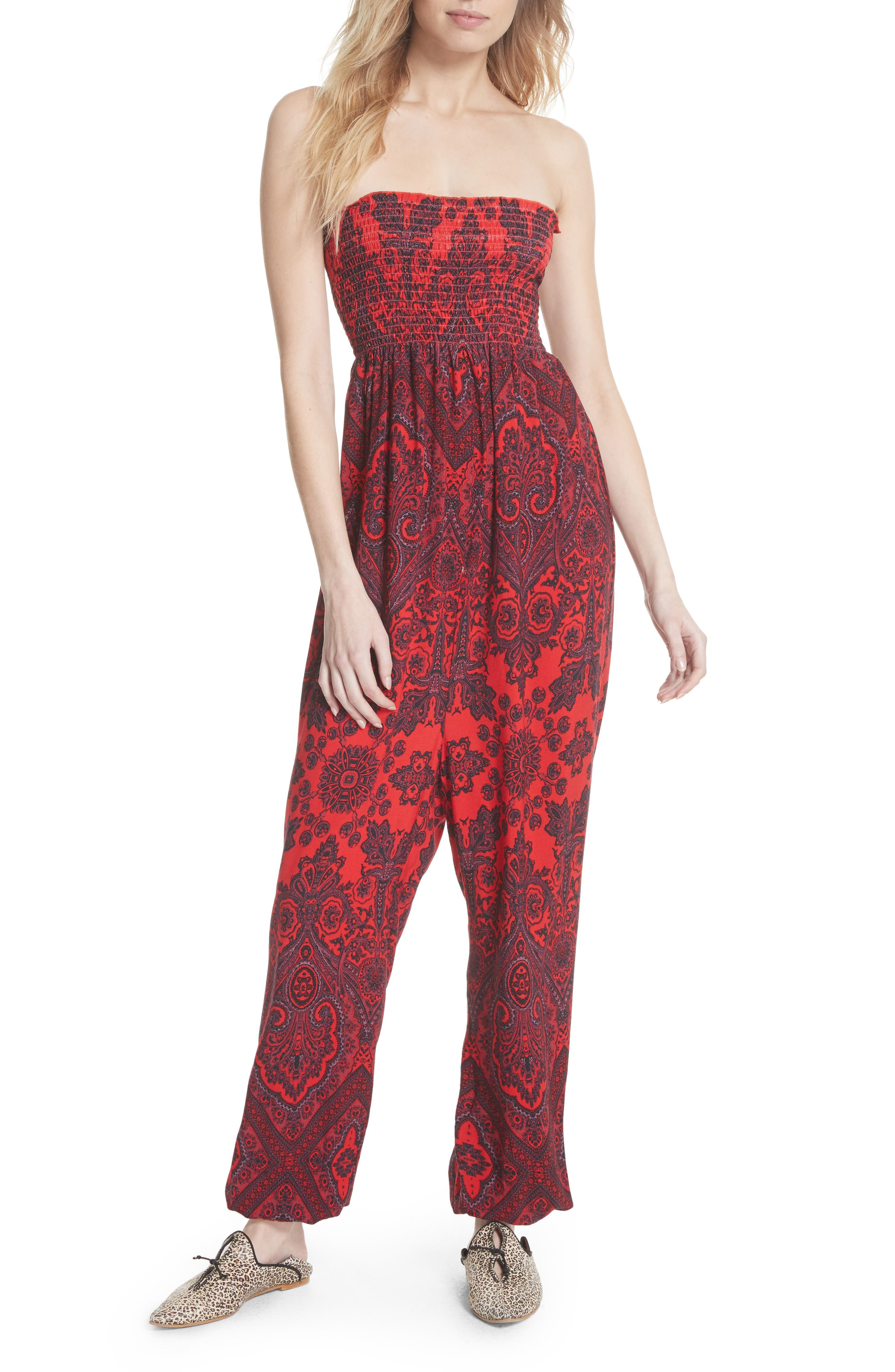 Thinking of You Smocked Jumpsuit,                             Main thumbnail 2, color,