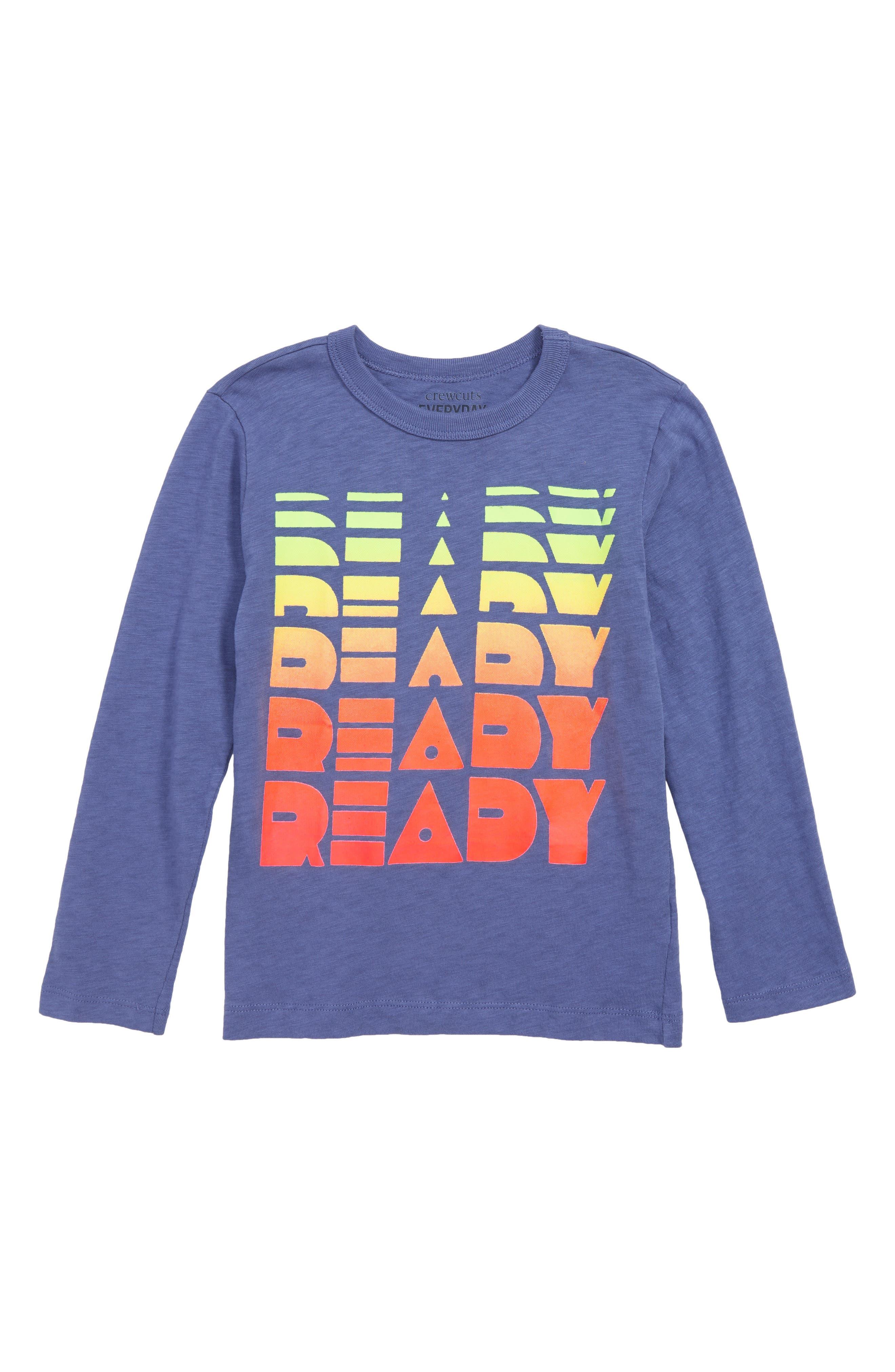 Ready T-Shirt,                         Main,                         color, TWILIGHT FOG
