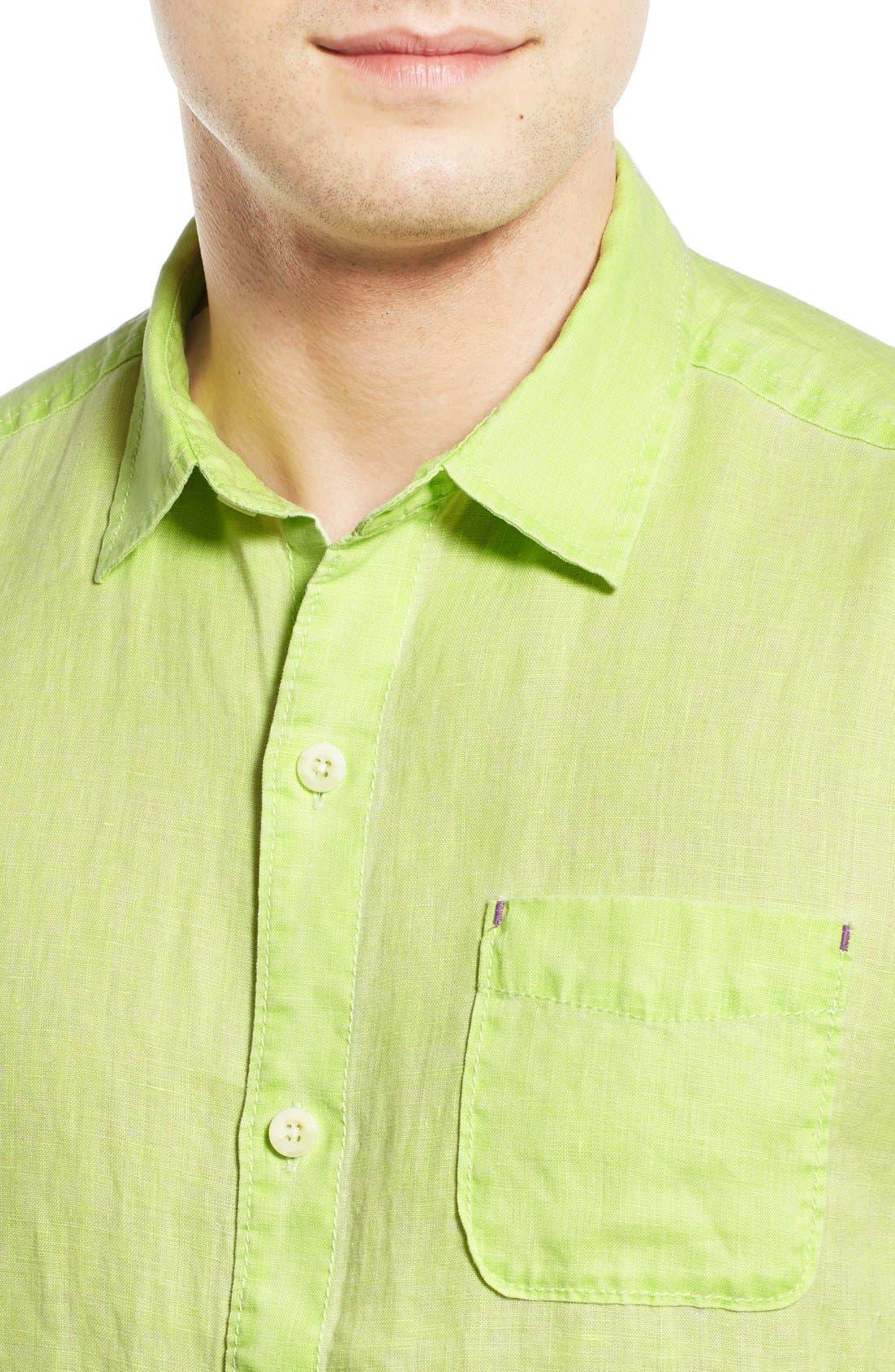 Seaglass Breezer Short Sleeve Linen Sport Shirt,                             Alternate thumbnail 38, color,
