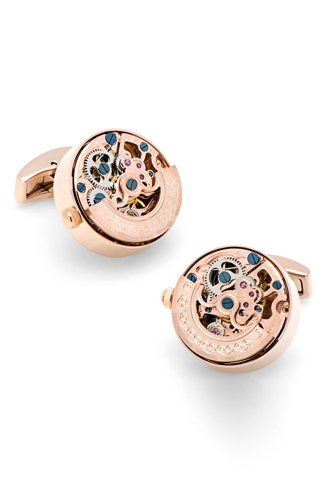 'Kinetic Watch' Cuff Links,                             Alternate thumbnail 4, color,