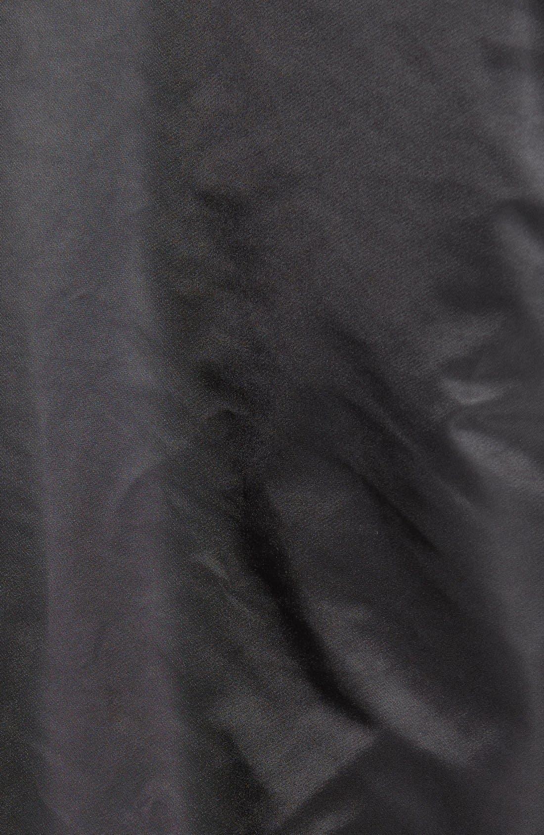 Slim Fit Reversible MA-1 Flex Bomber Jacket,                             Alternate thumbnail 5, color,                             001