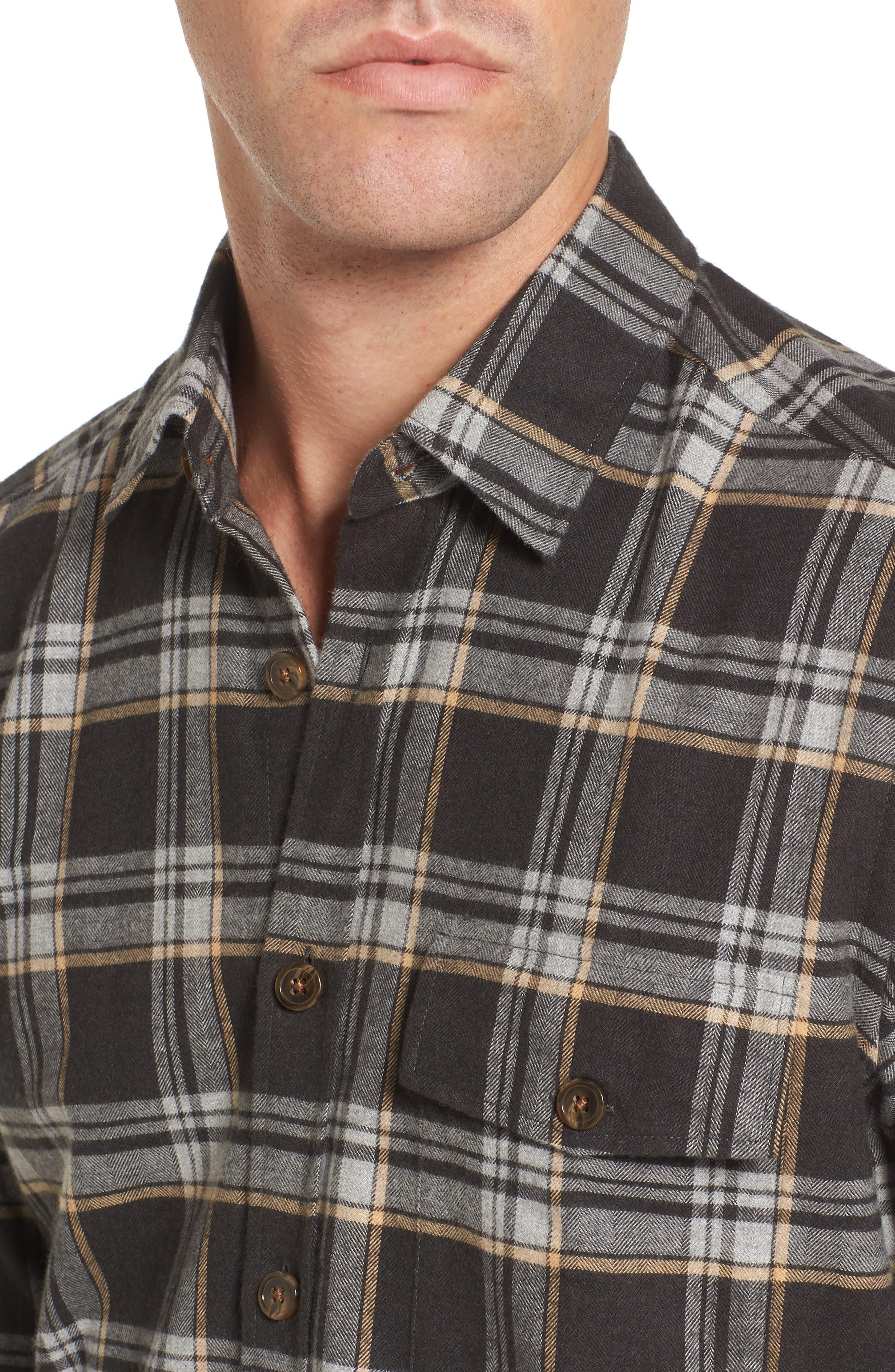 Lalo Plaid Flannel Shirt,                             Alternate thumbnail 4, color,                             262