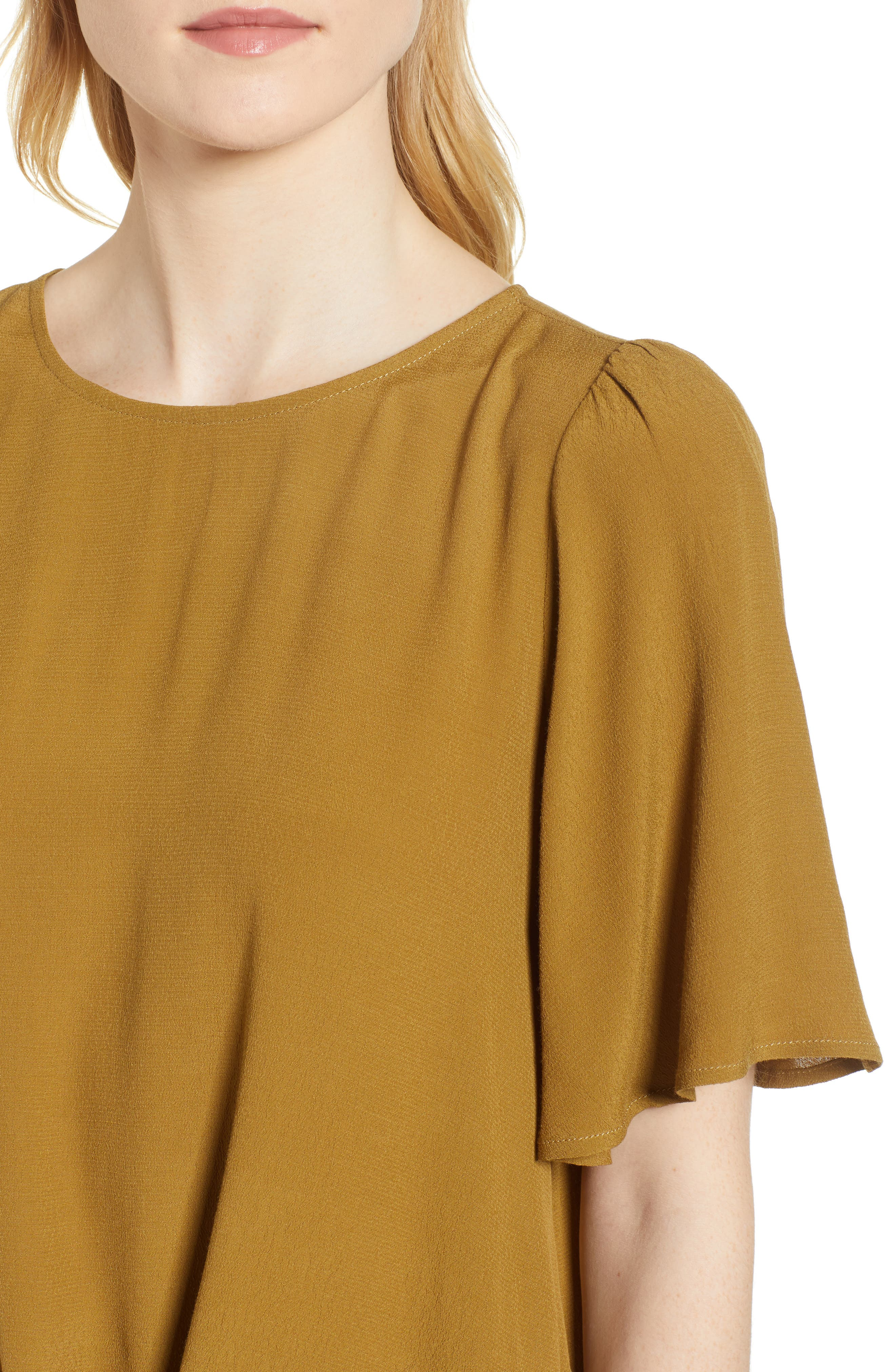 Ruffle Tie Front Top,                             Alternate thumbnail 15, color,