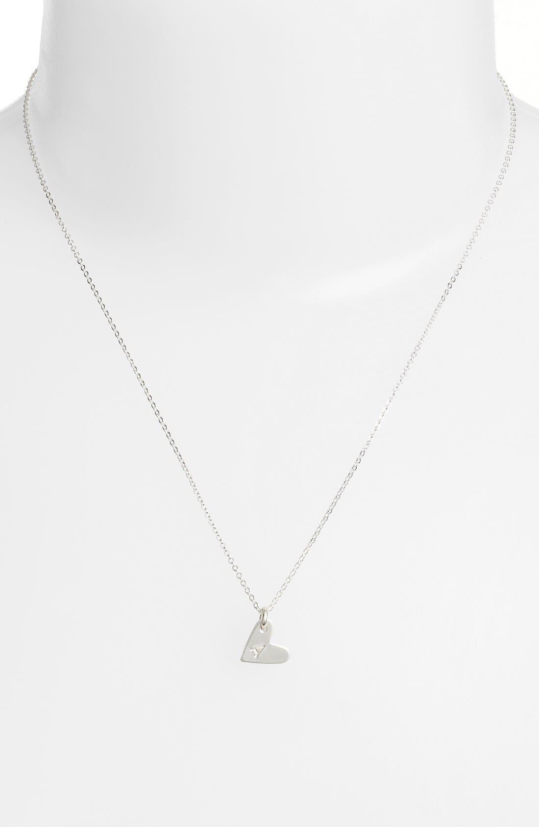 Initial Heart Pendant Necklace,                             Alternate thumbnail 2, color,                             040
