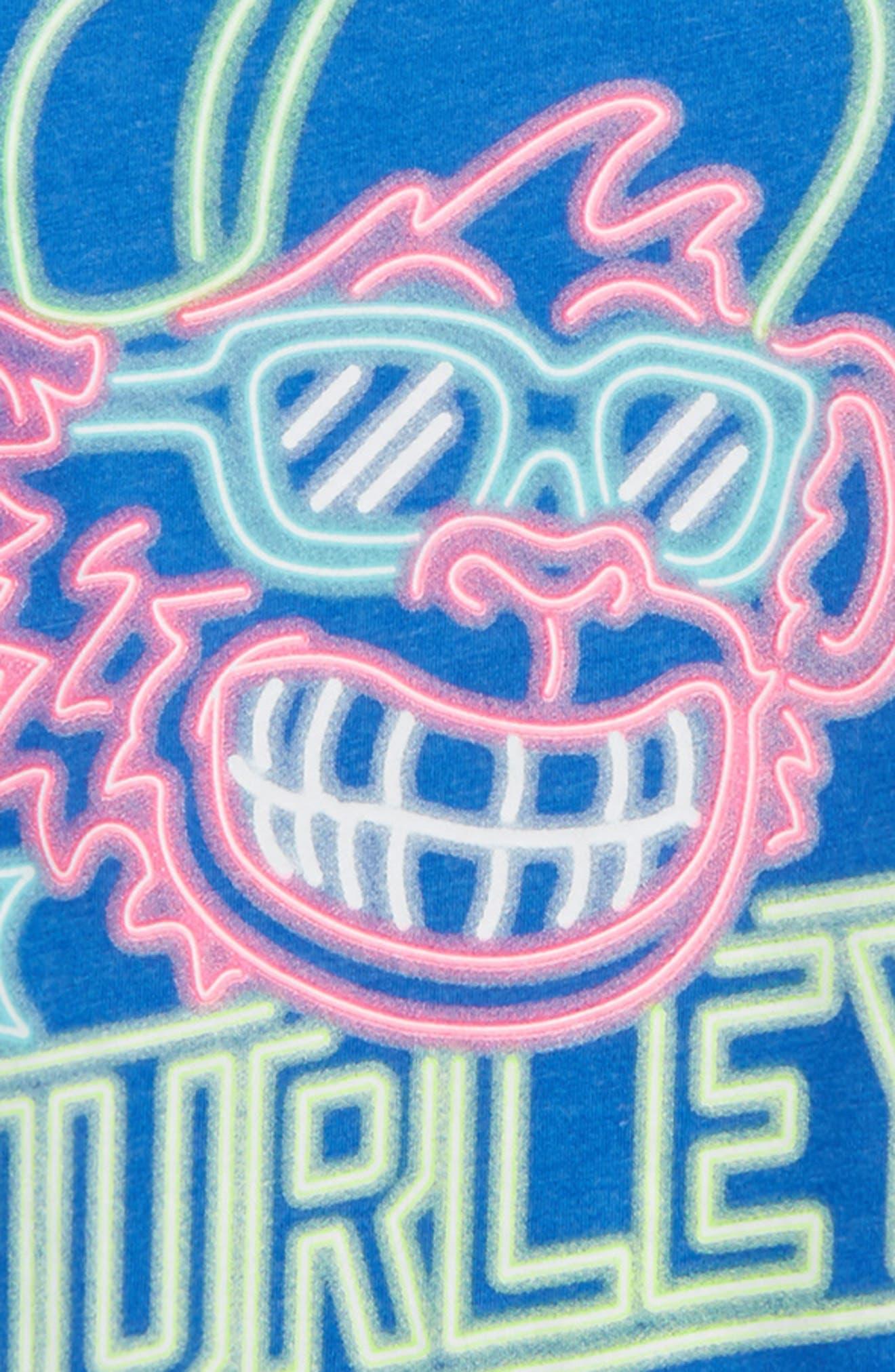 Neon Chimp Glow in the Dark T-Shirt,                             Alternate thumbnail 3, color,                             461