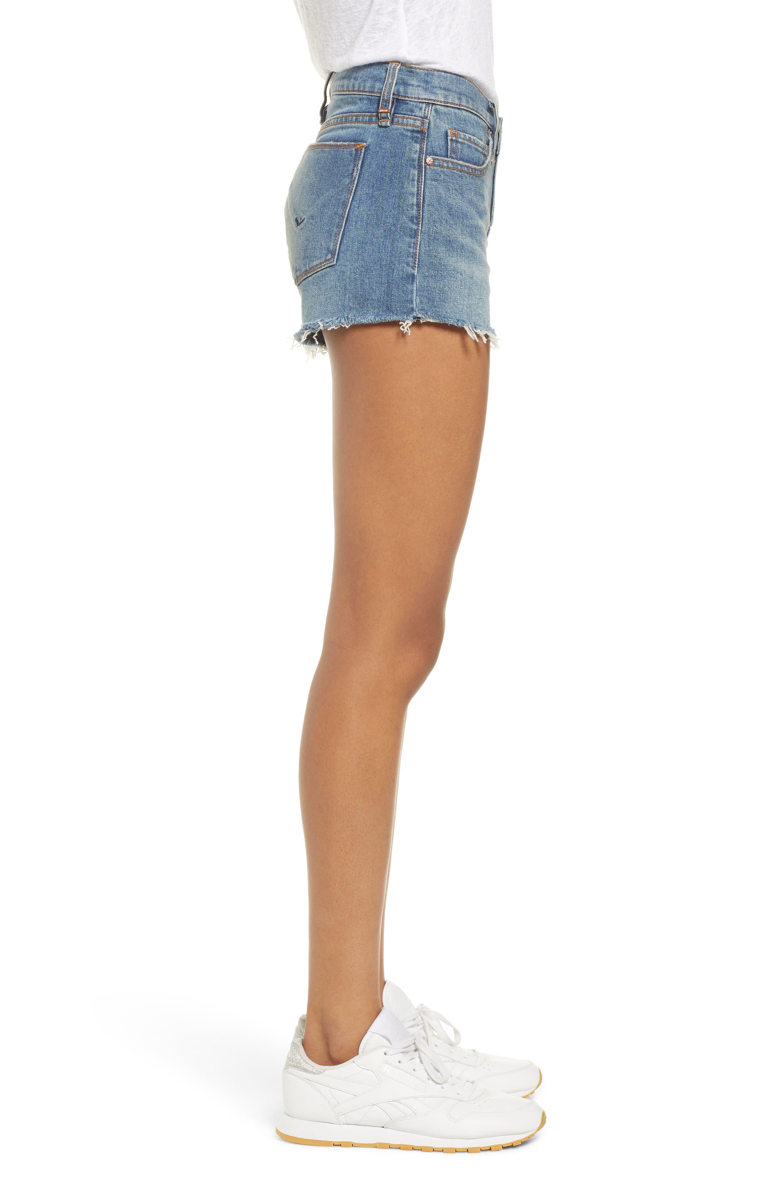 Gemma Cutoff Denim Shorts,                             Alternate thumbnail 3, color,                             VROOM