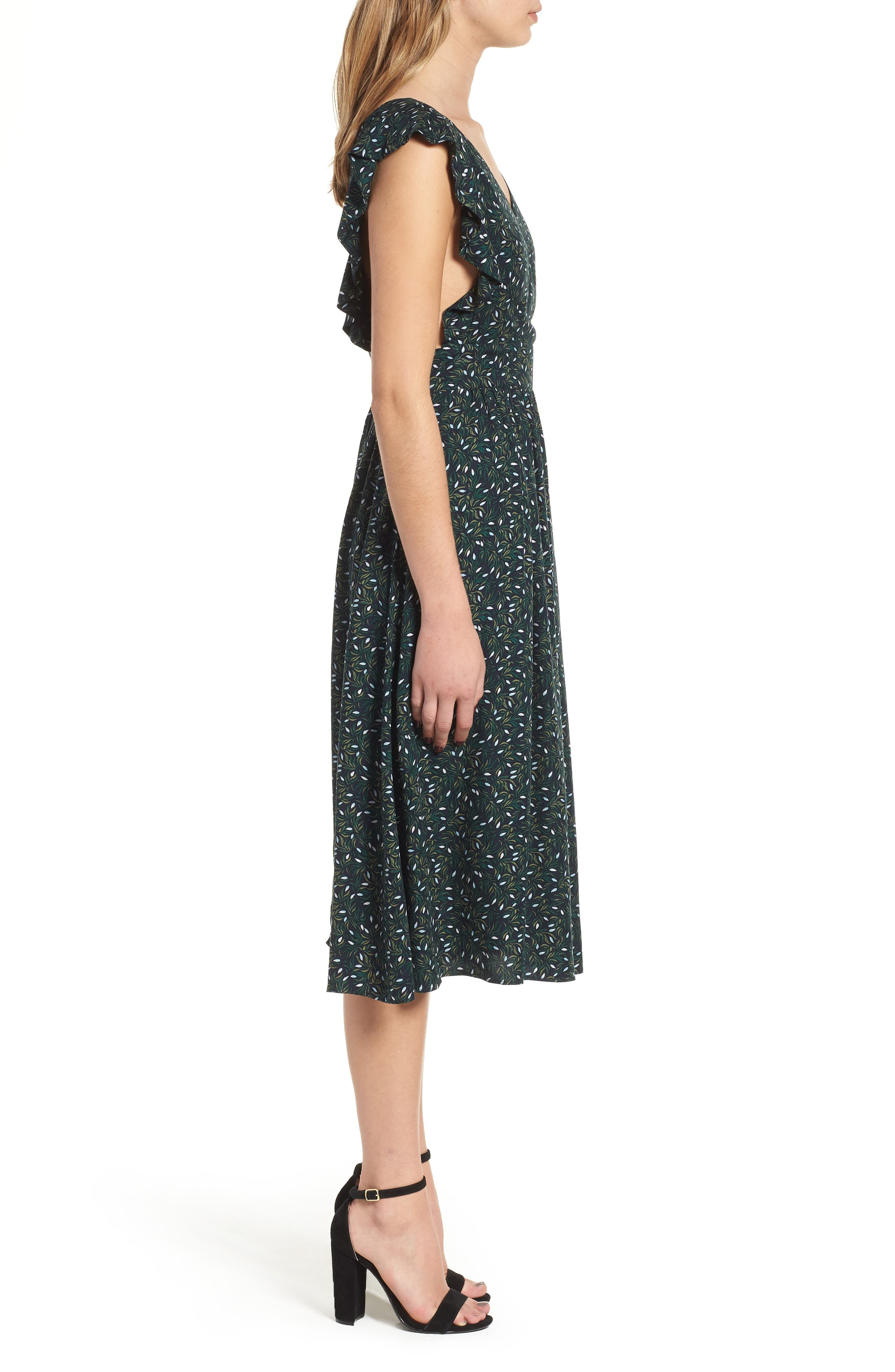 Pinafore Midi Dress,                             Alternate thumbnail 3, color,                             410
