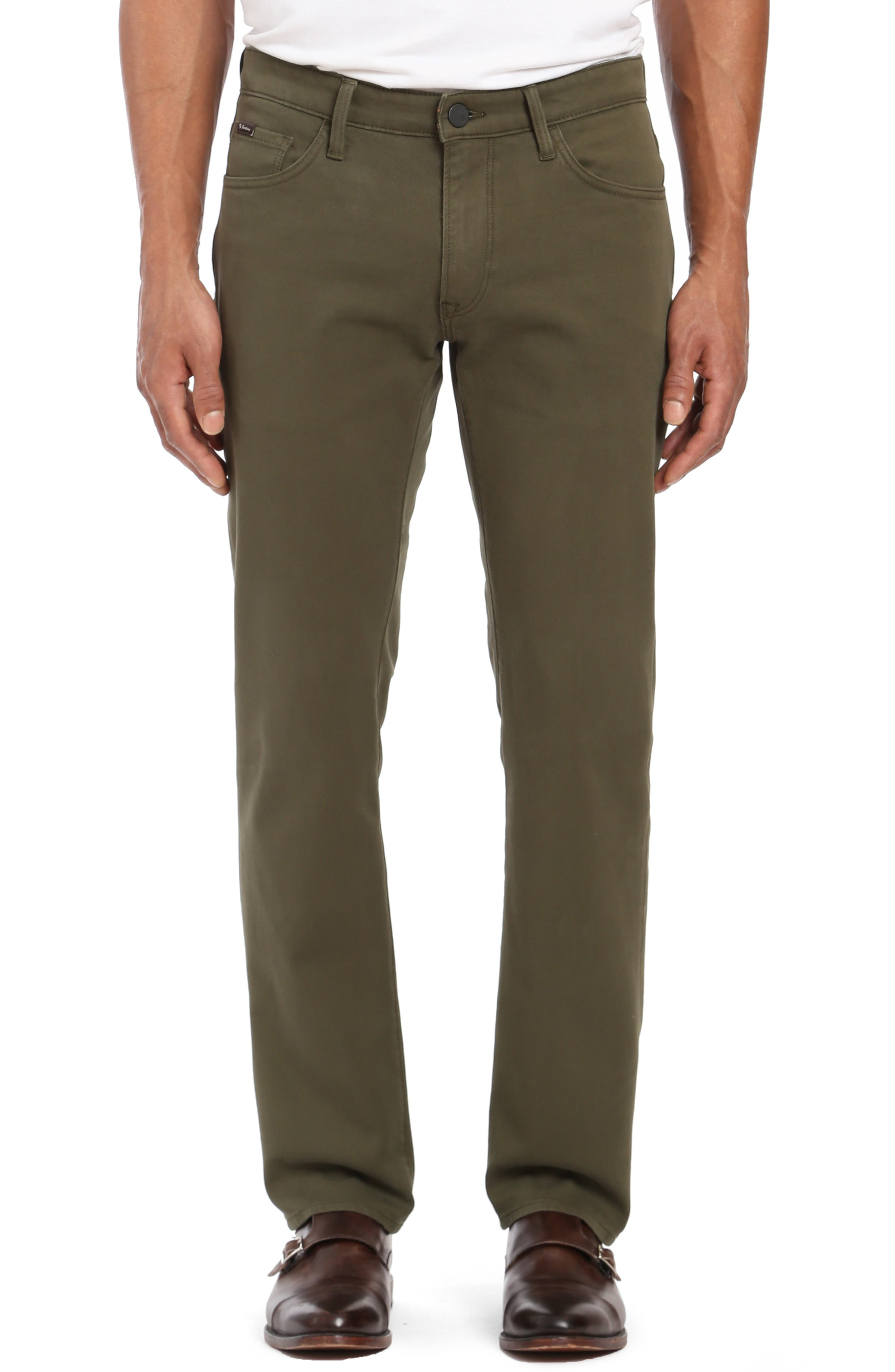 Courage Straight Leg Twill Pants,                         Main,                         color, GREEN FINE TWILL