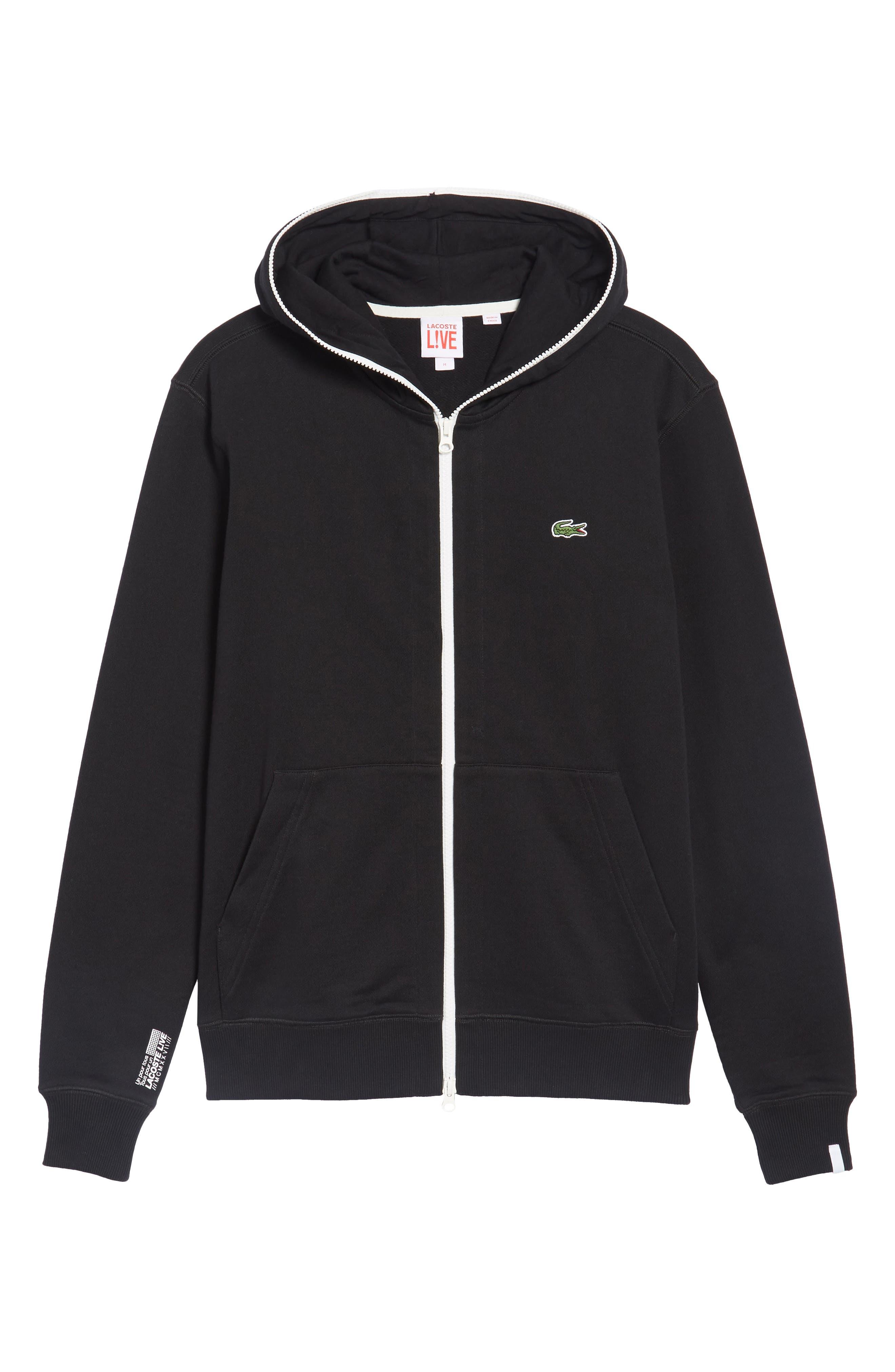 Fleece Zip Sweatshirt,                             Alternate thumbnail 6, color,                             001