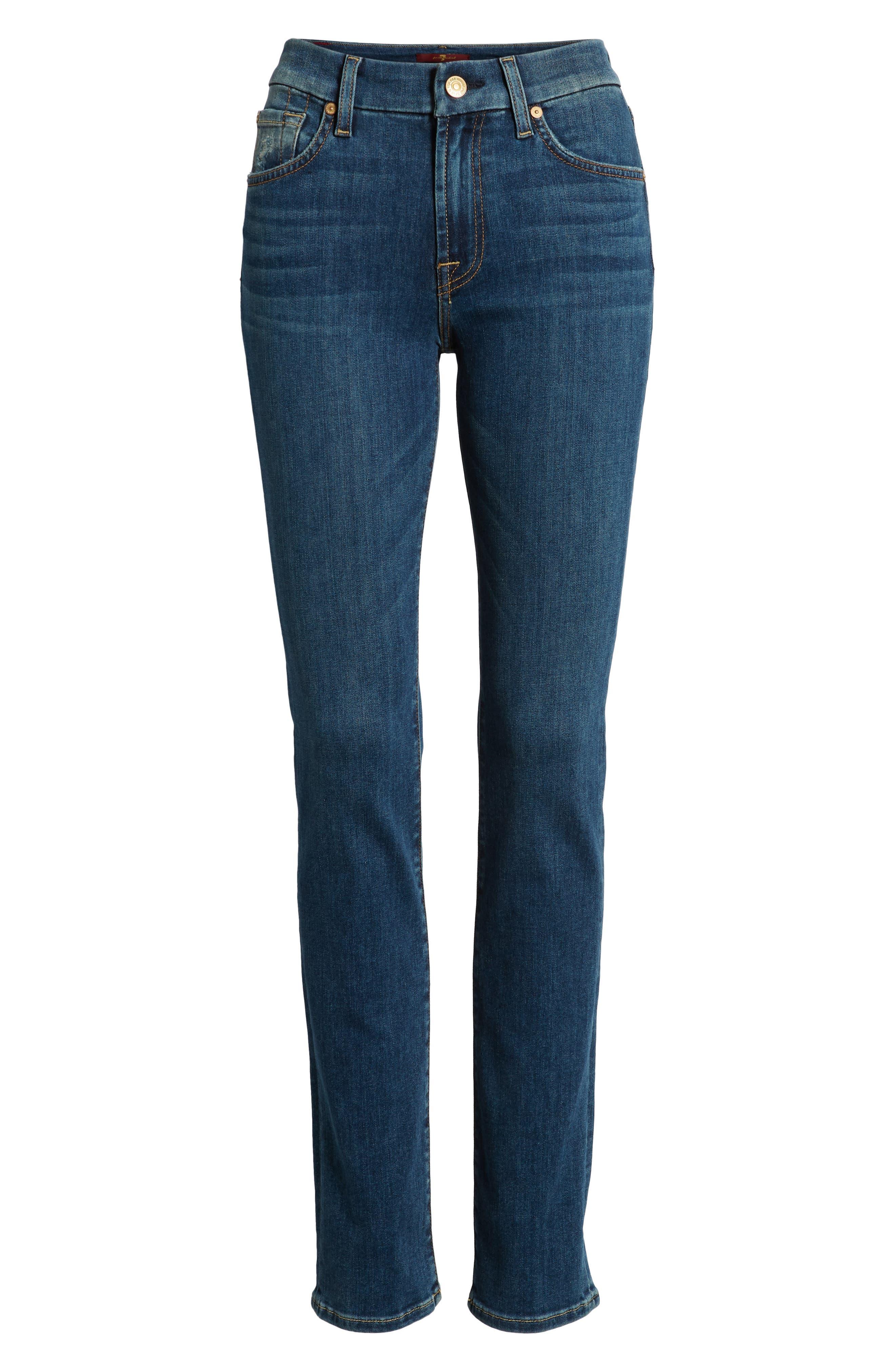 Kimmie Straight Leg Jeans,                             Alternate thumbnail 7, color,                             GLAM MEDIUM