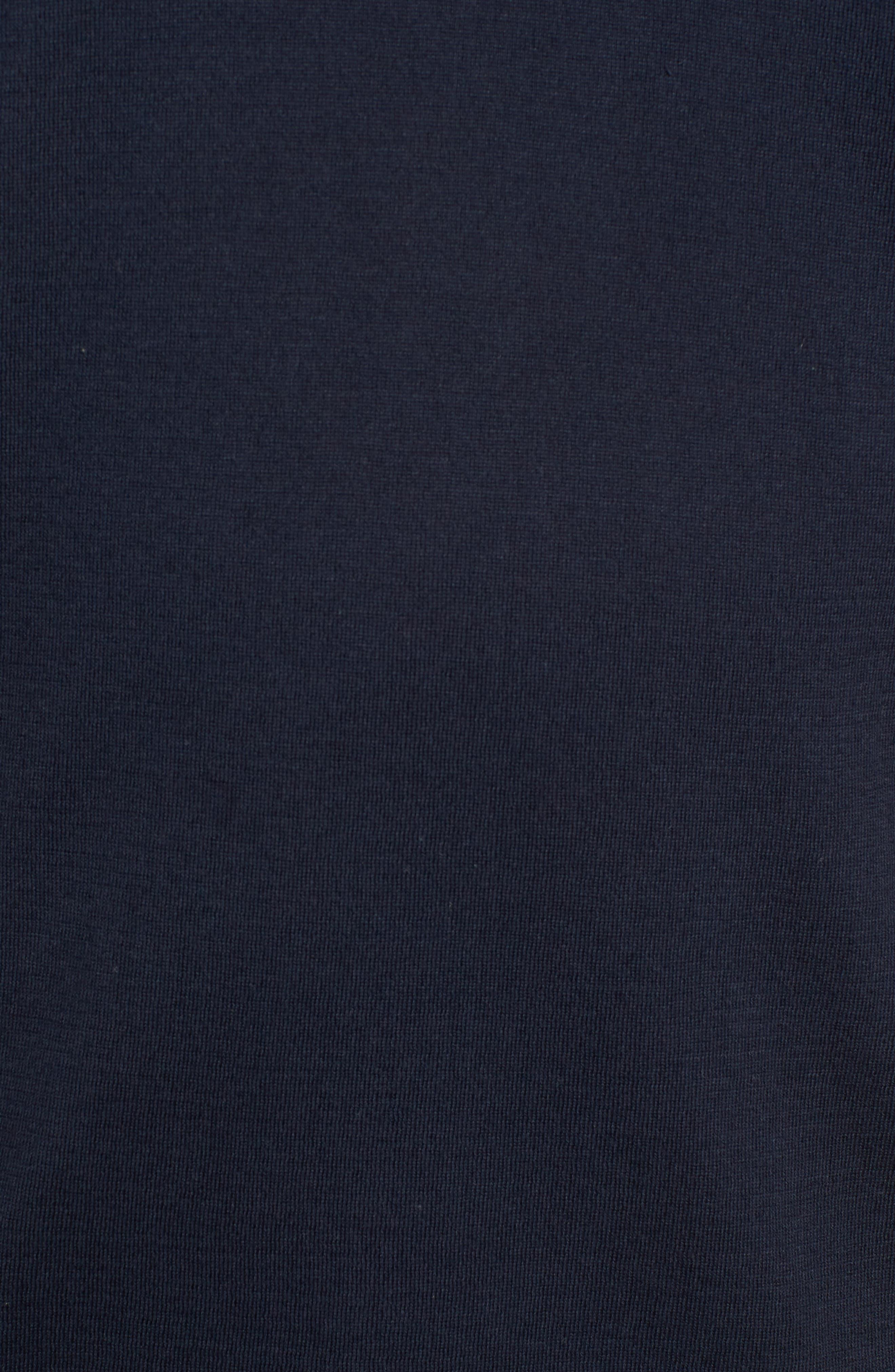 Regular Fit Ringer T-Shirt,                             Alternate thumbnail 5, color,                             FRENCH NAVY/ BLACK