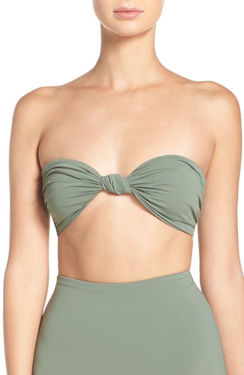 edd05aa6bc Mara Hoffman Knot Front Bandeau Bikini Top