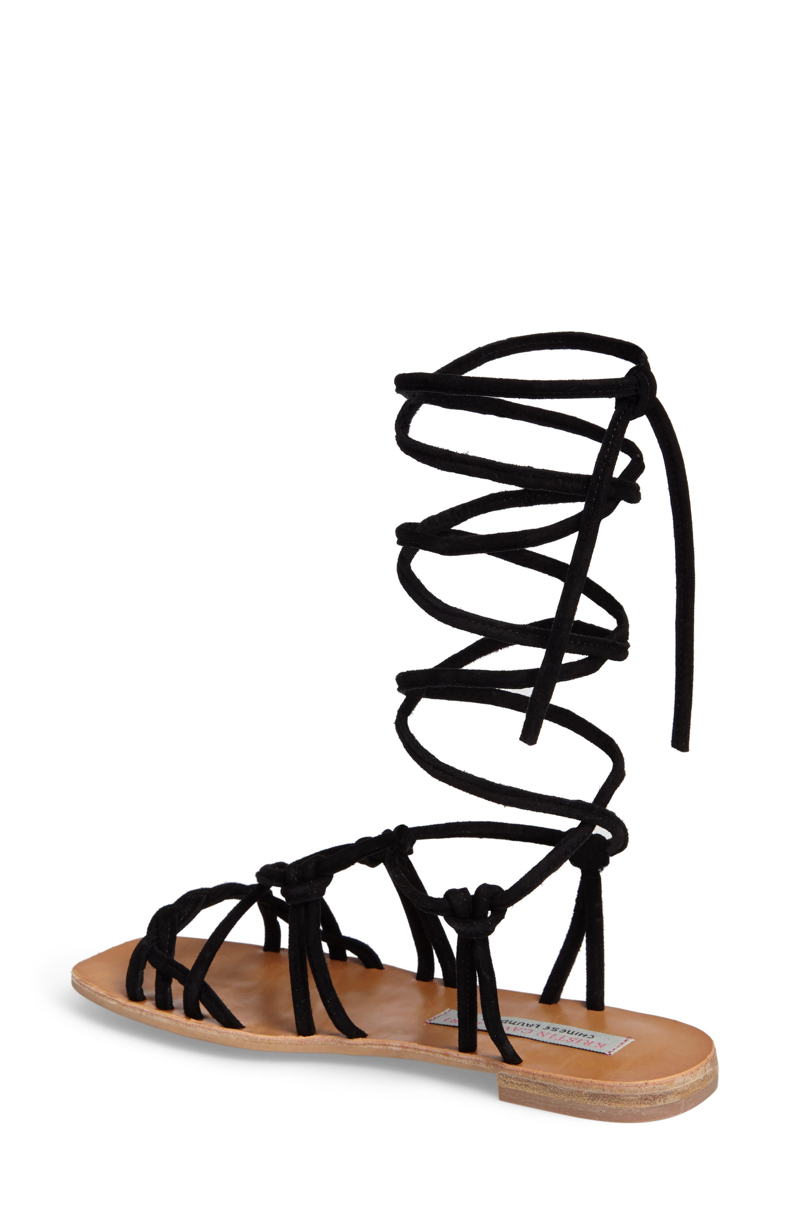 KRISTIN CAVALLARI,                             Tori Knotted Wraparound Sandal,                             Alternate thumbnail 2, color,                             001