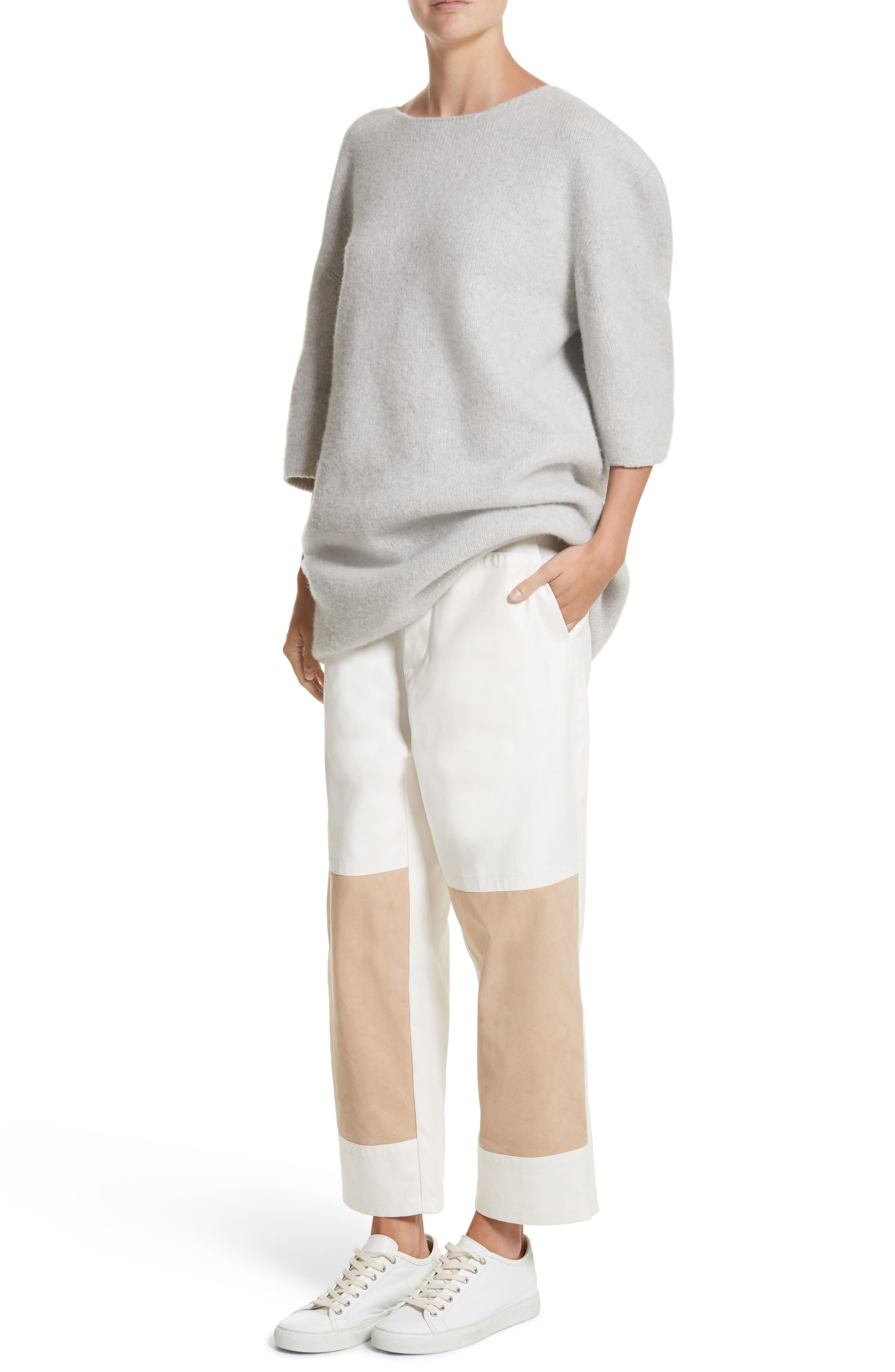 Baseball Wool Sweater Dress,                             Alternate thumbnail 7, color,                             040