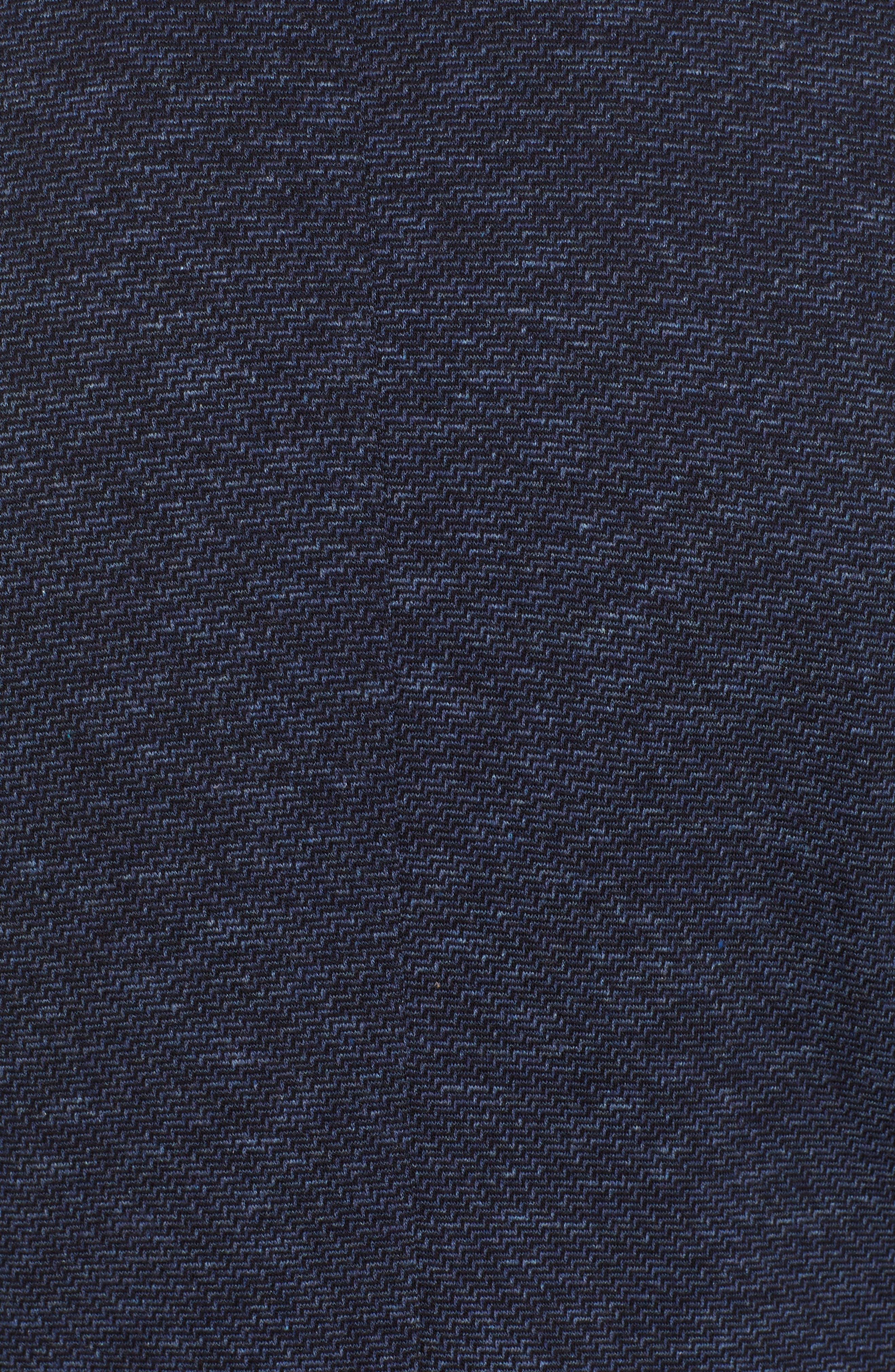 Stretch Cotton Knit Sport Coat,                             Alternate thumbnail 6, color,                             DENIM