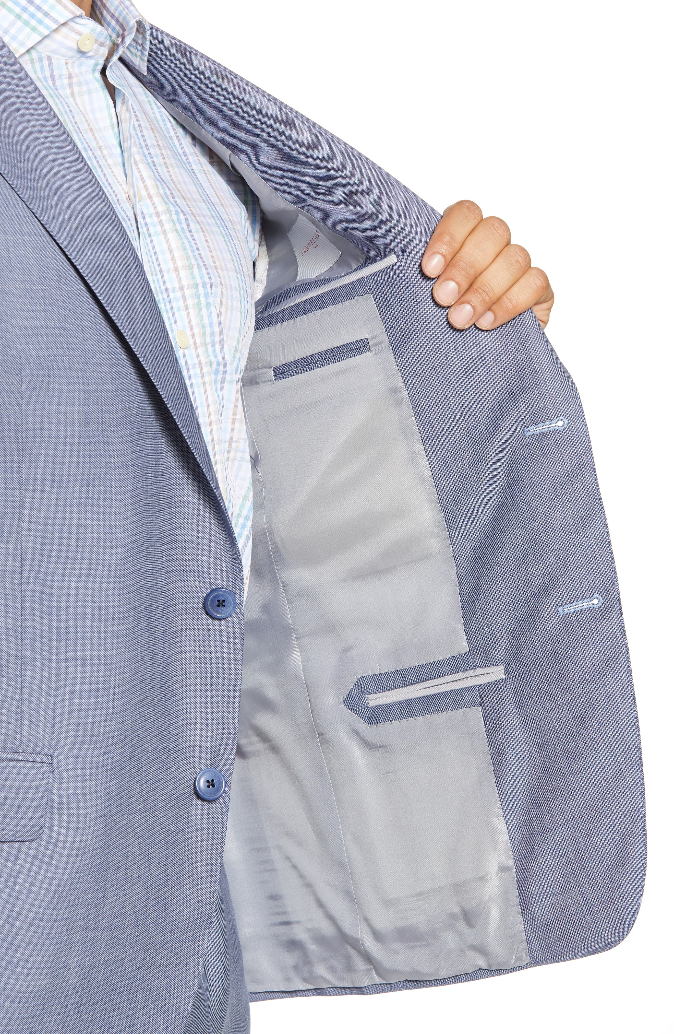 Classic Fit Solid Wool Suit,                             Alternate thumbnail 4, color,                             450