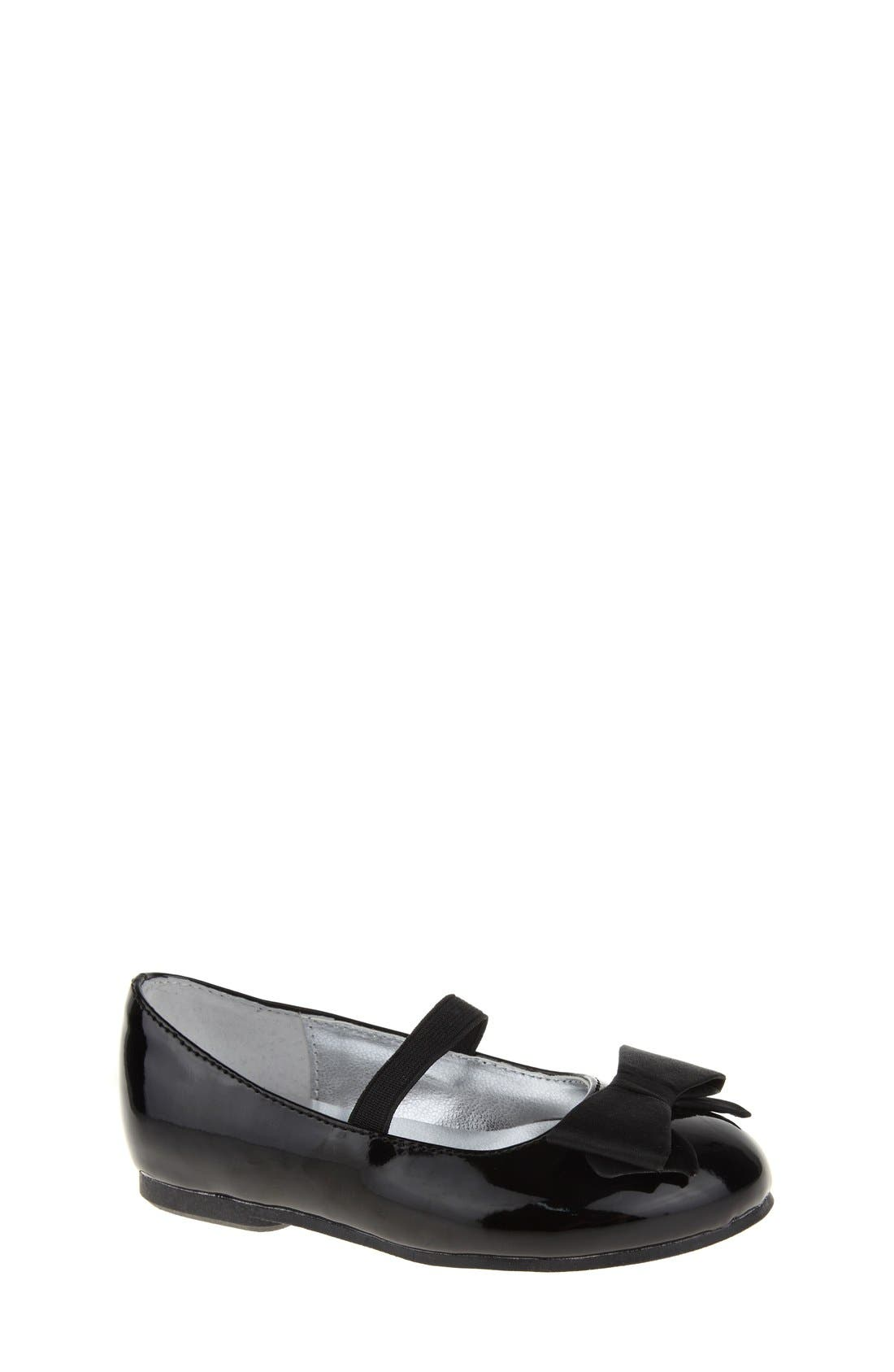 'Pegasus' Flat,                         Main,                         color, BLACK PATENT