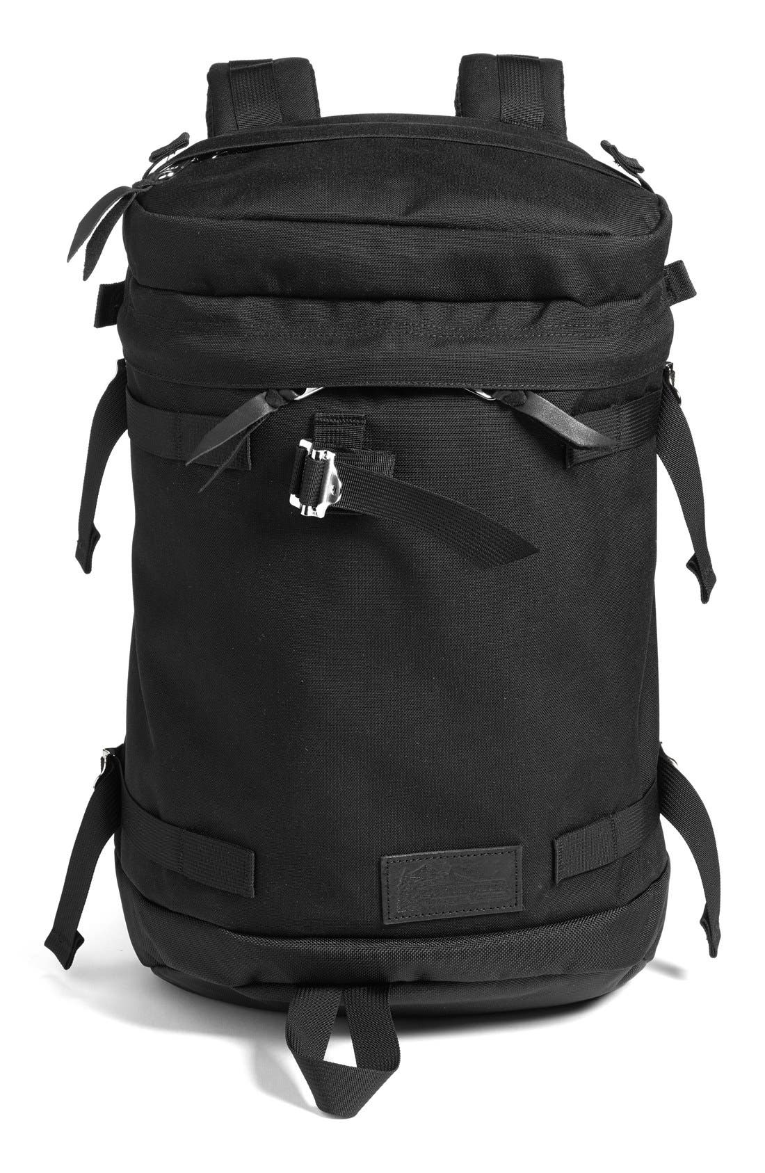 'Flip' Nylon Backpack, Main, color, 001