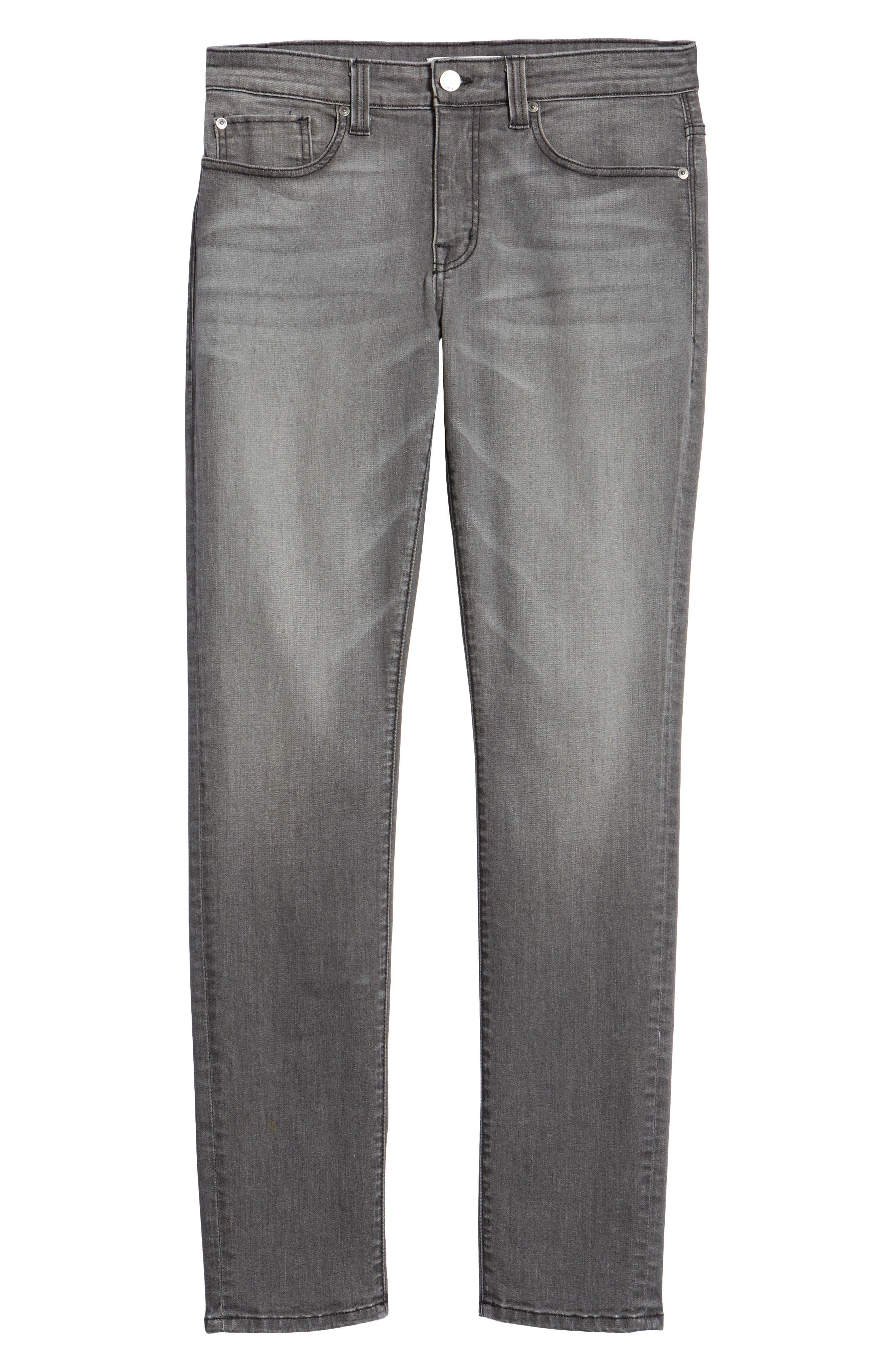 Torino Slim Fit Jeans,                             Alternate thumbnail 6, color,                             PHANTOM GREY