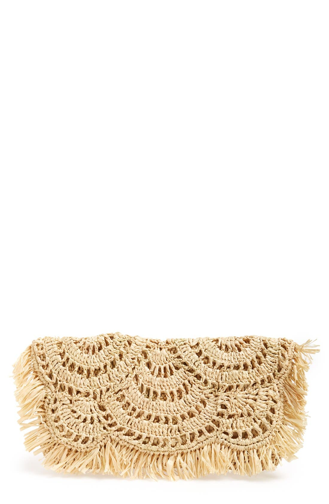 'Giselle' Woven Clutch, Main, color, 250