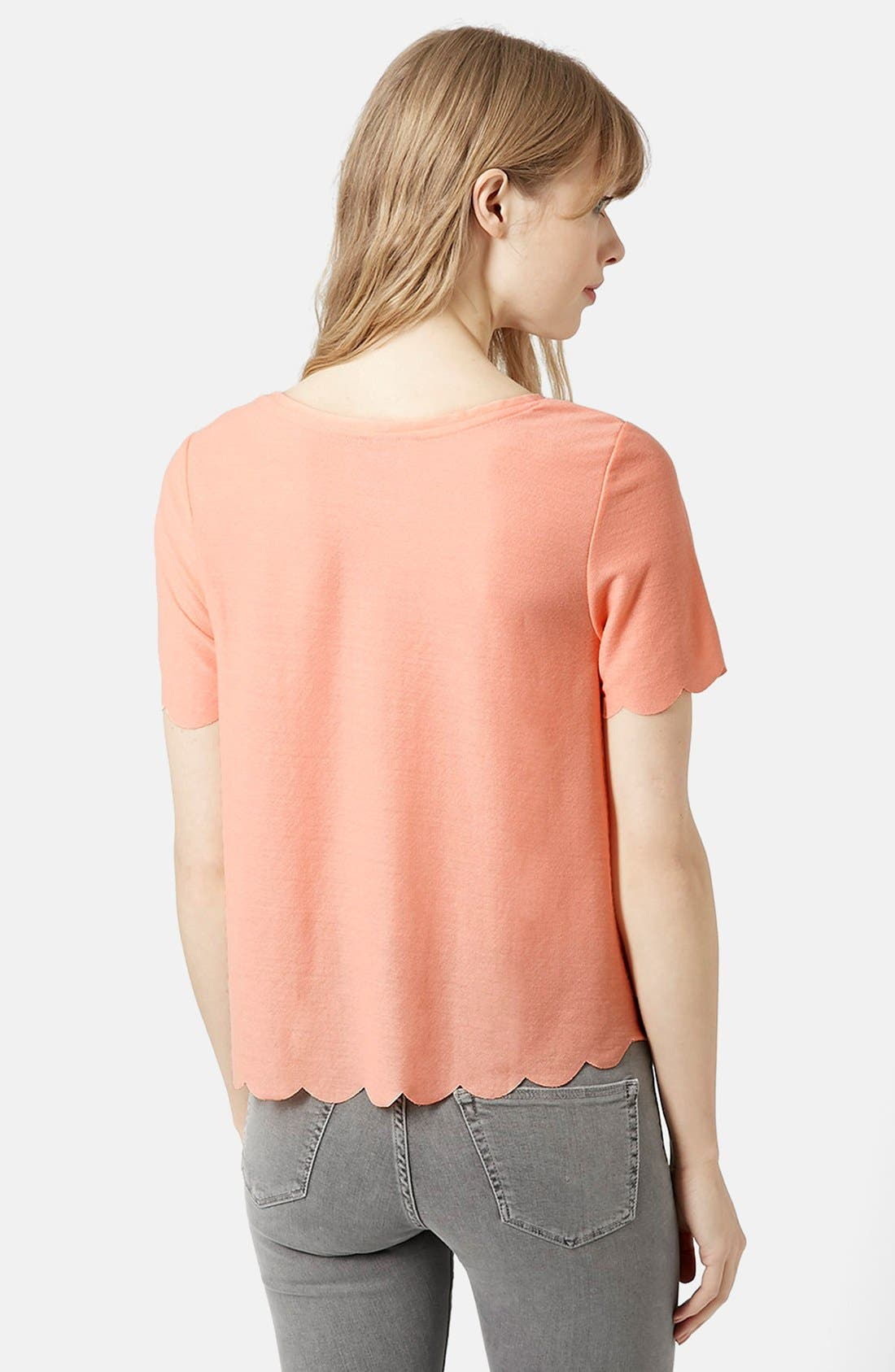 Scallop Frill Tee,                             Alternate thumbnail 21, color,