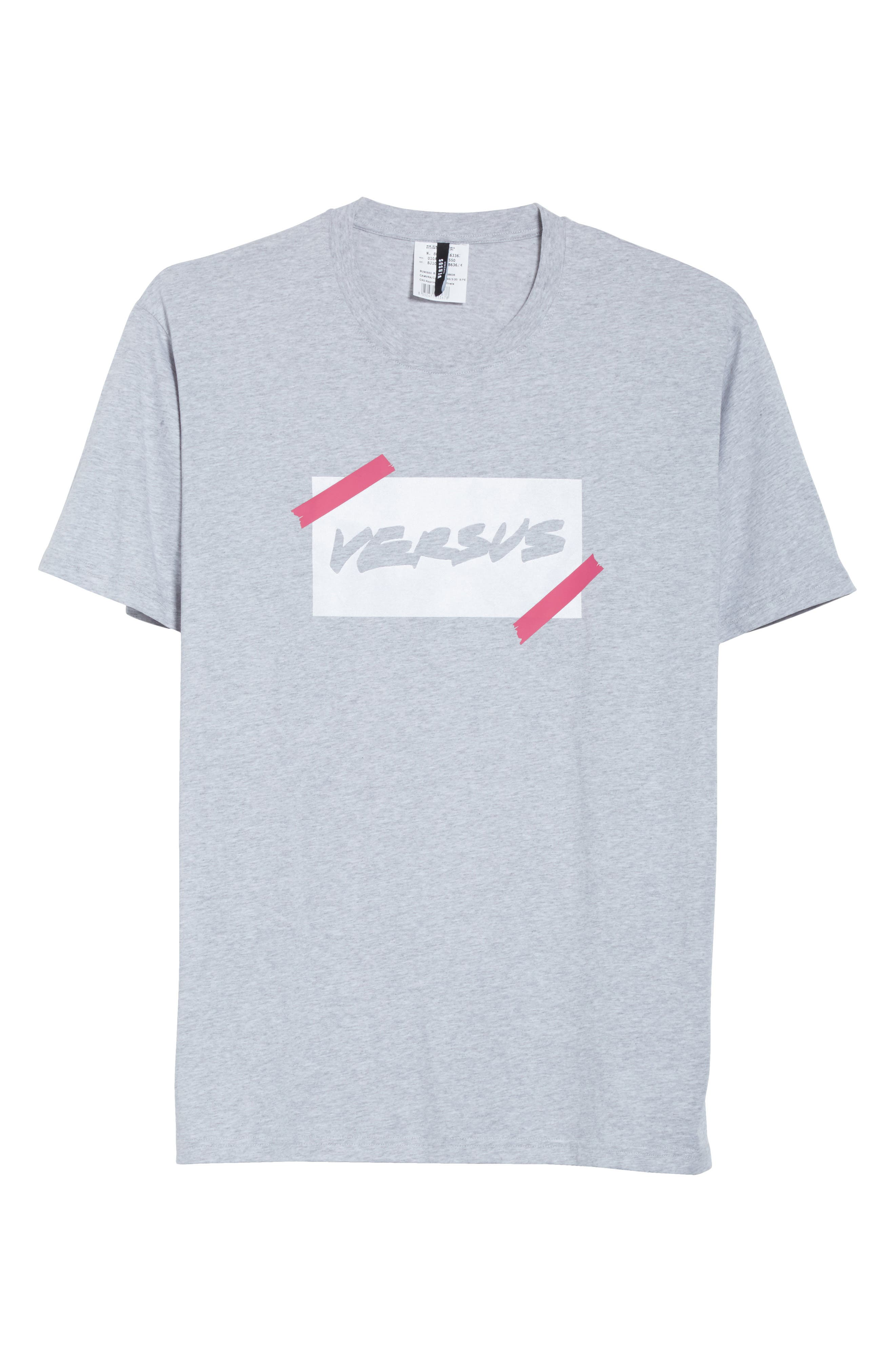 VERSUS by Versace Tape Logo Graphic T-Shirt,                             Alternate thumbnail 6, color,                             052