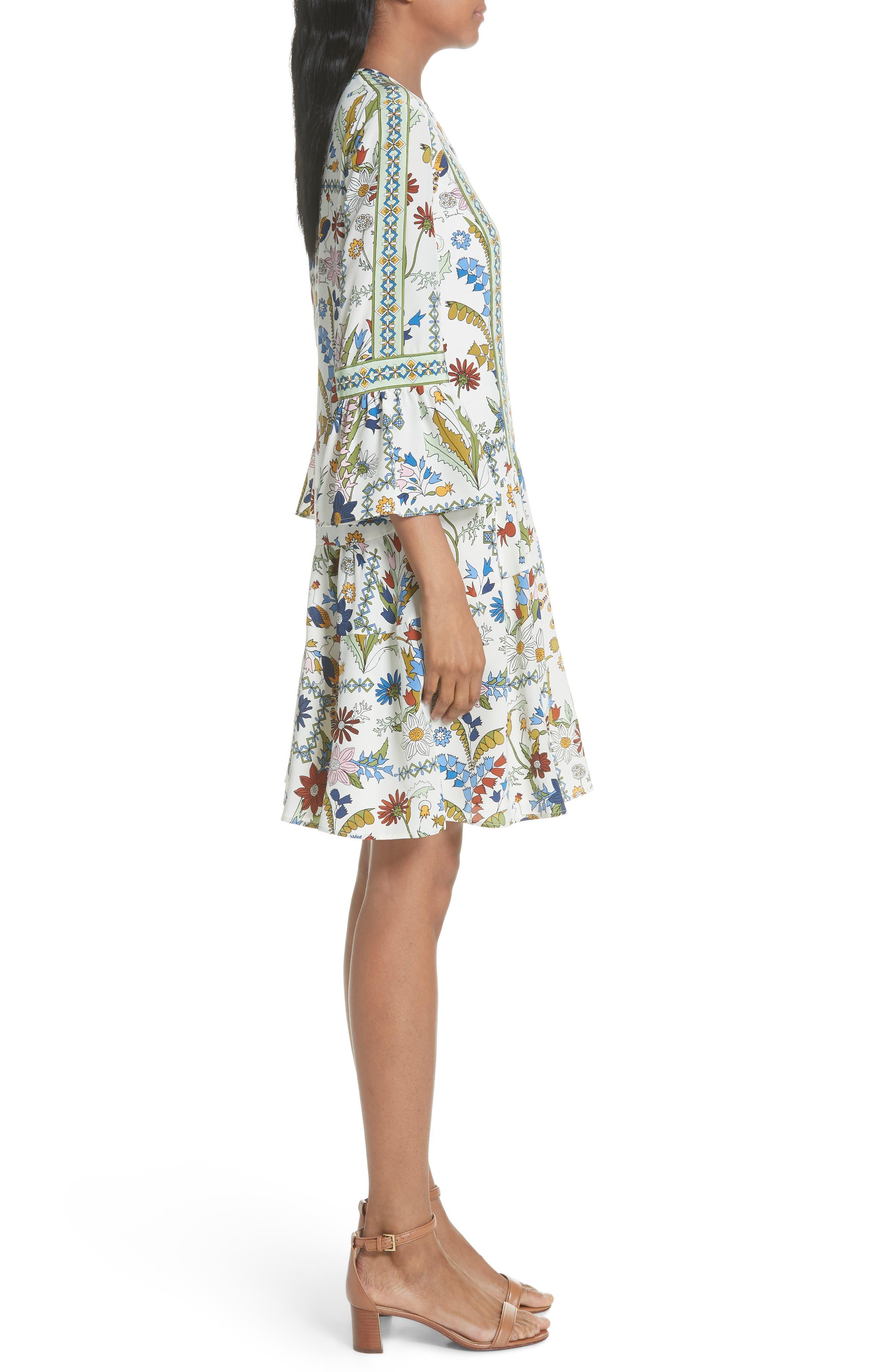 Daphne Silk Shift Dress,                             Alternate thumbnail 3, color,