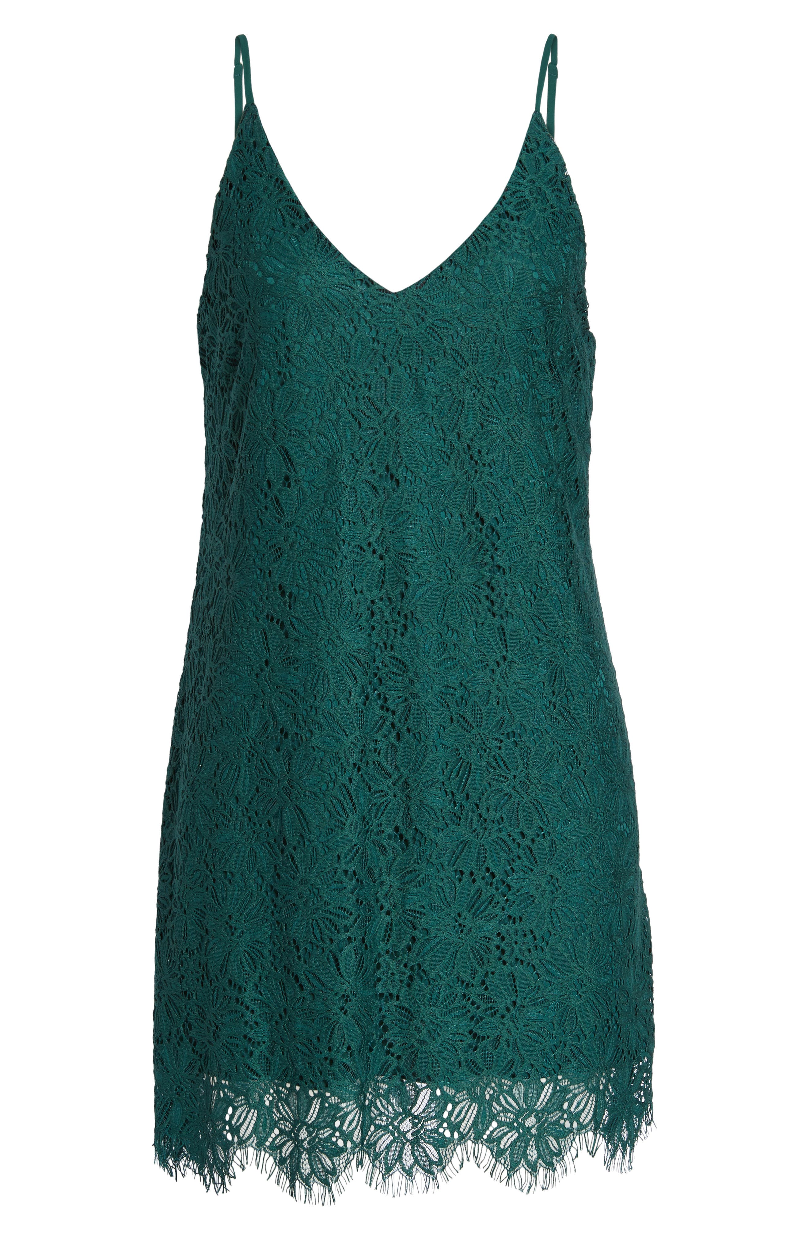 Scallop Hem Lace Slipdress,                             Alternate thumbnail 6, color,                             300
